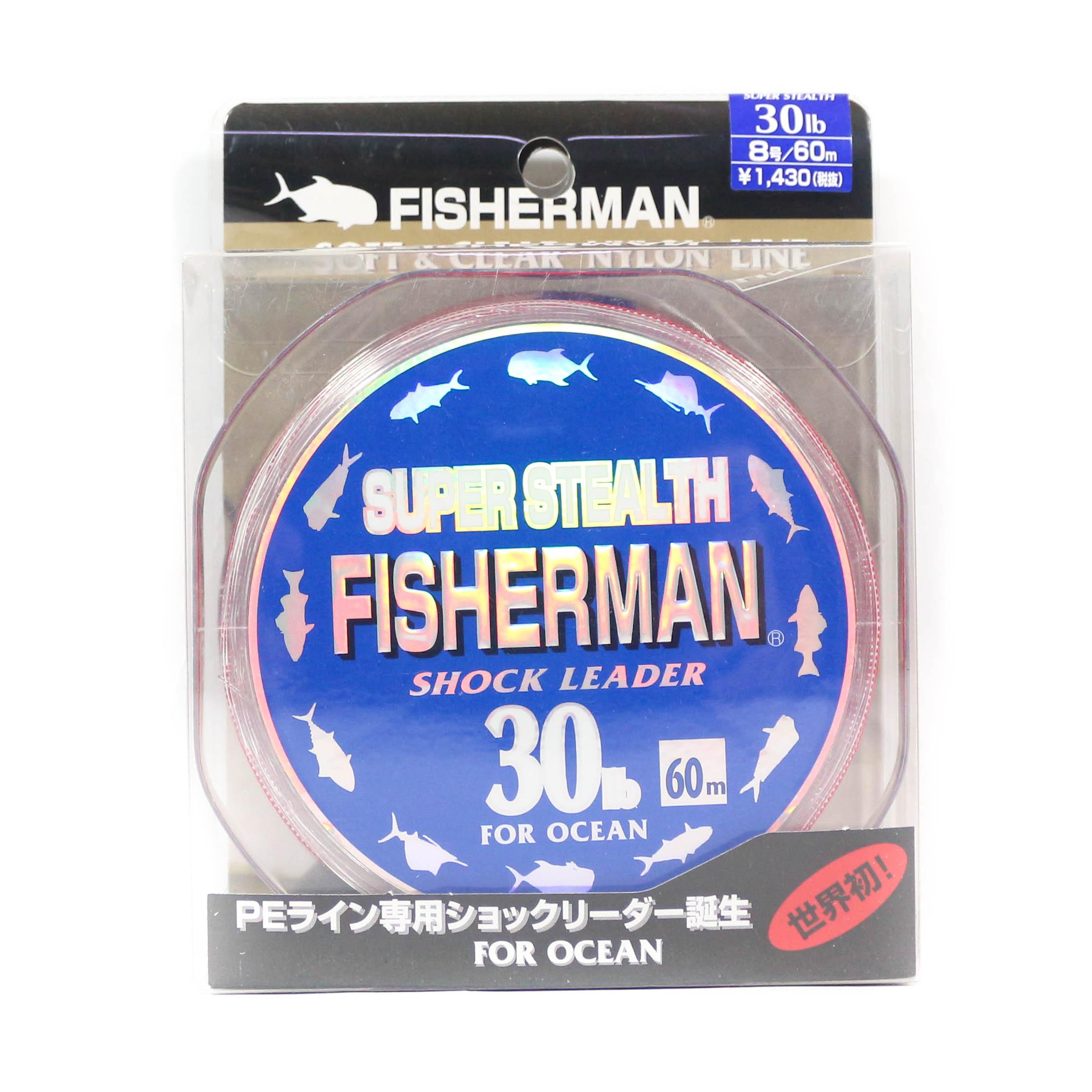 Fisherman Super Stealth Nylon Shock Leader 30 lb x 60 meter (0016)