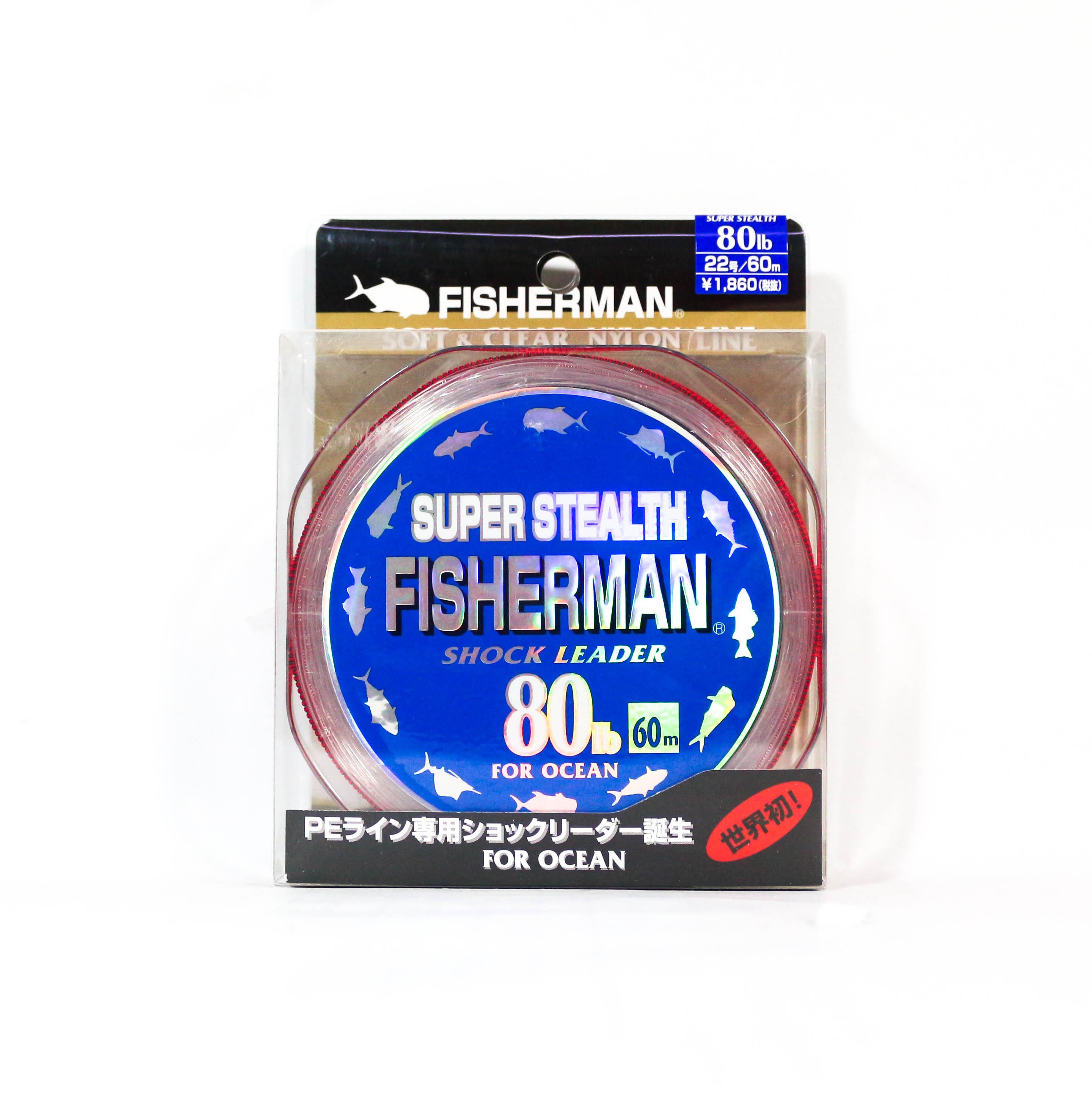 Fisherman Super Stealth Nylon Shock Leader 80 lb x 60 meter (0030)