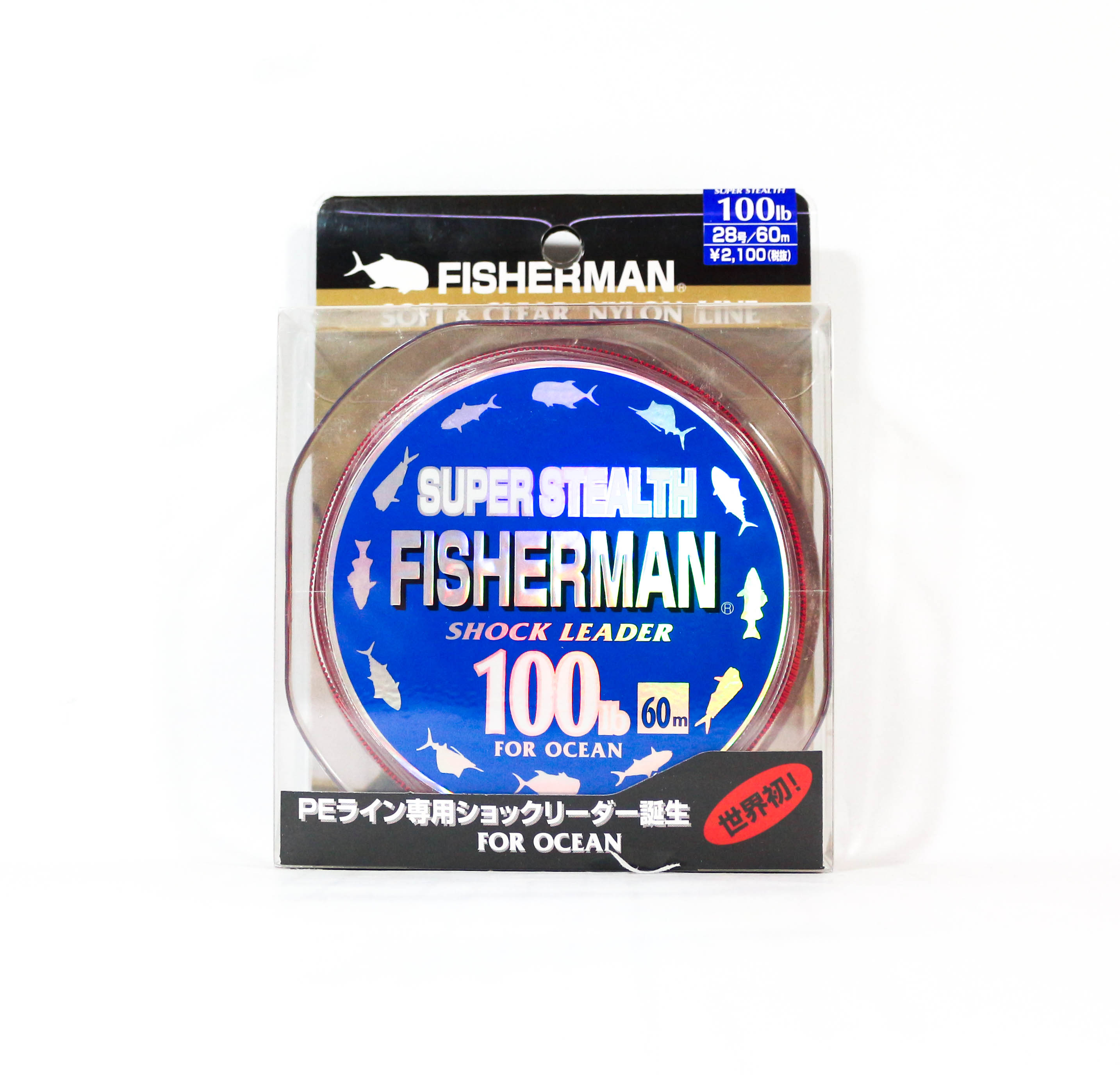 Fisherman Super Stealth Nylon Shock Leader 100 lb x 60 meter (0047)