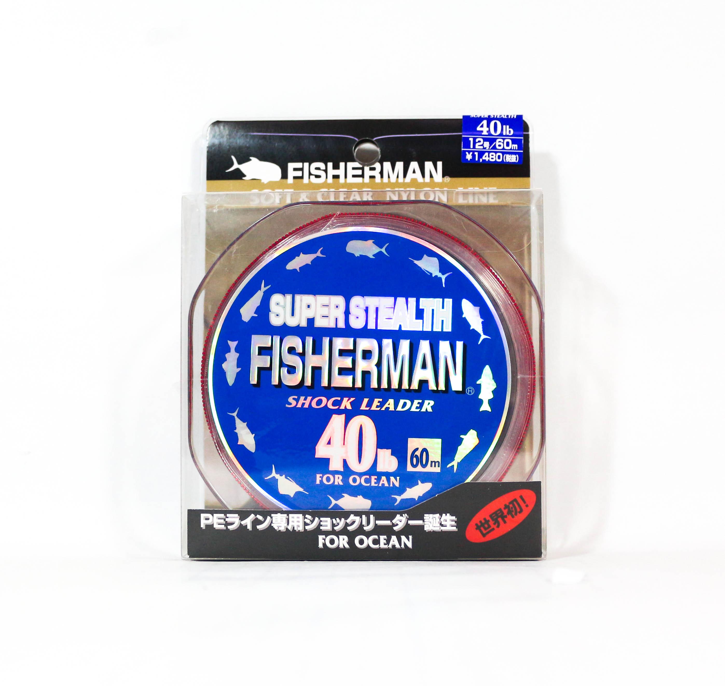 Fisherman Super Stealth Nylon Shock Leader 40 lb x 60 meter (0092)