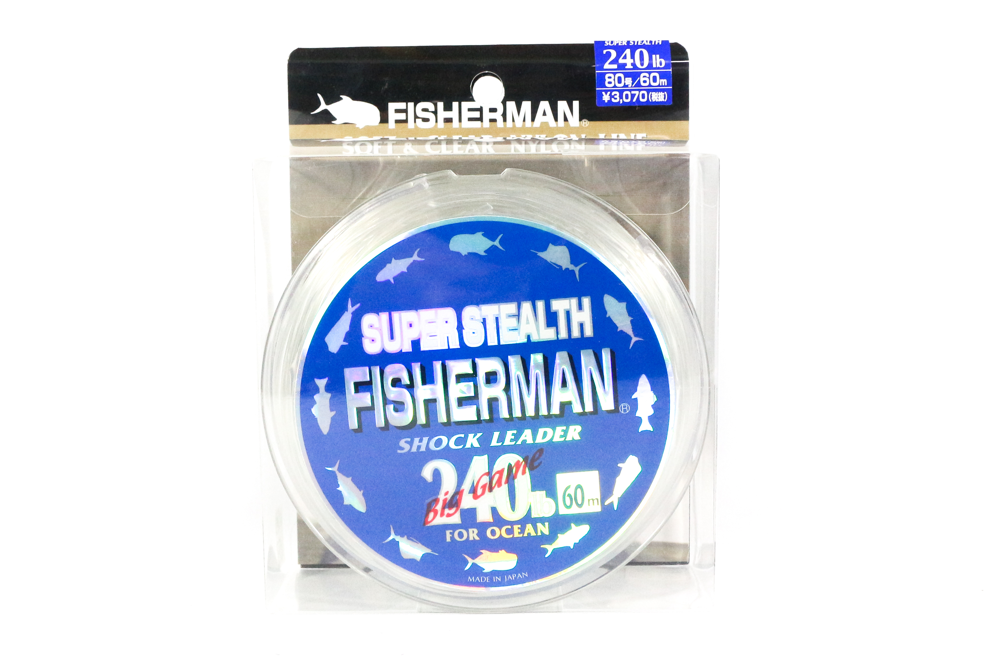Fisherman Super Stealth Nylon Shock Leader 240 lb x 60 meter (0184)