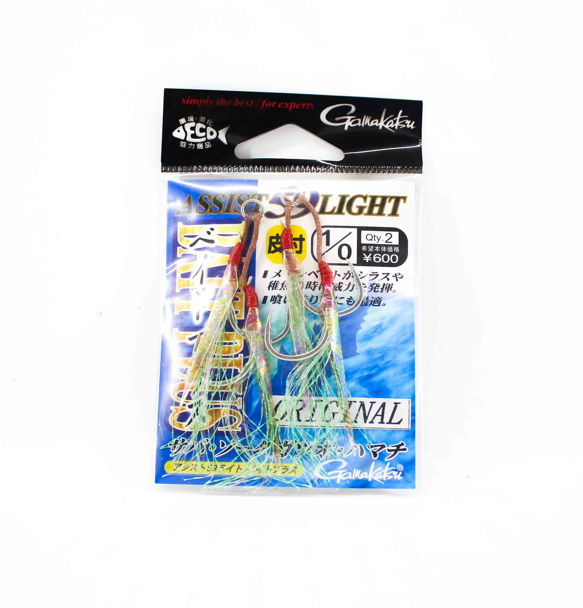 Gamakatsu 68170 Assist 59 Light Bait Plus Assist Hooks Size 1/0 (1607)