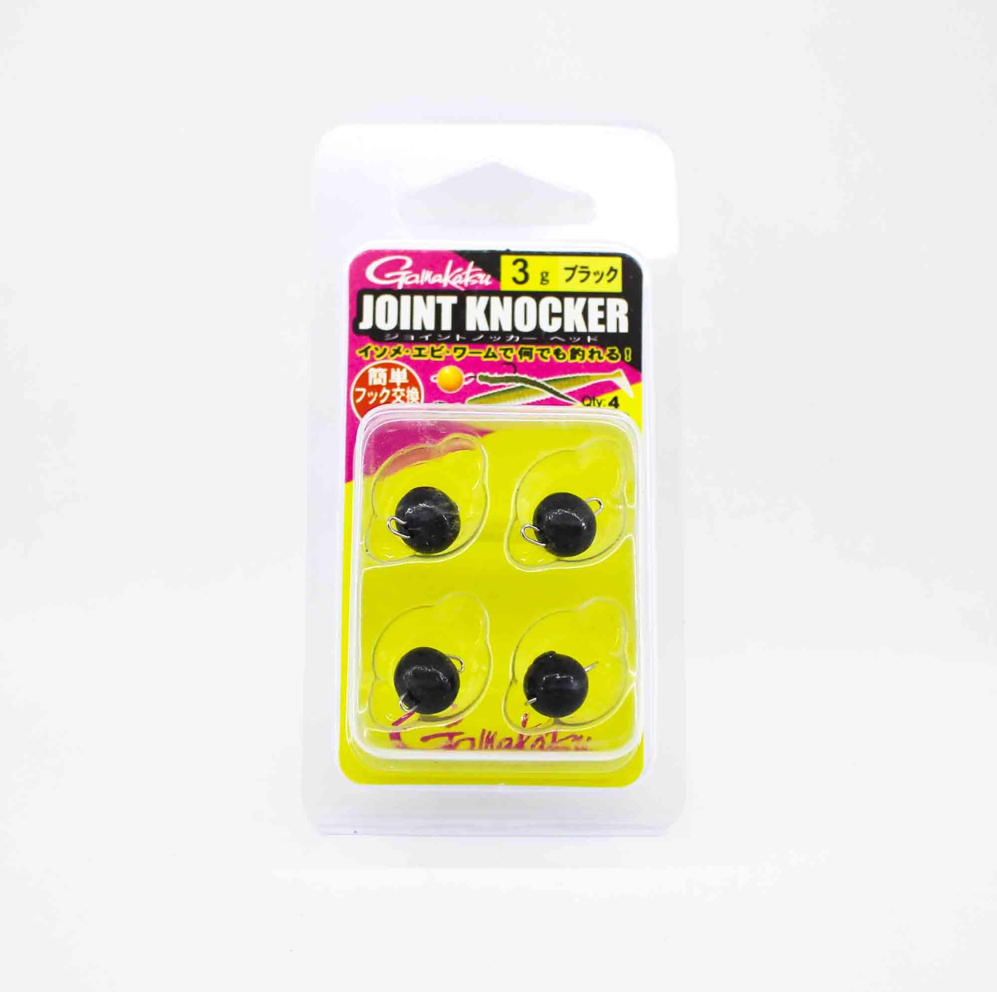 Gamakatsu 19255 Joint Knocker Jig Head 3 grams , 4 per pack (2539)
