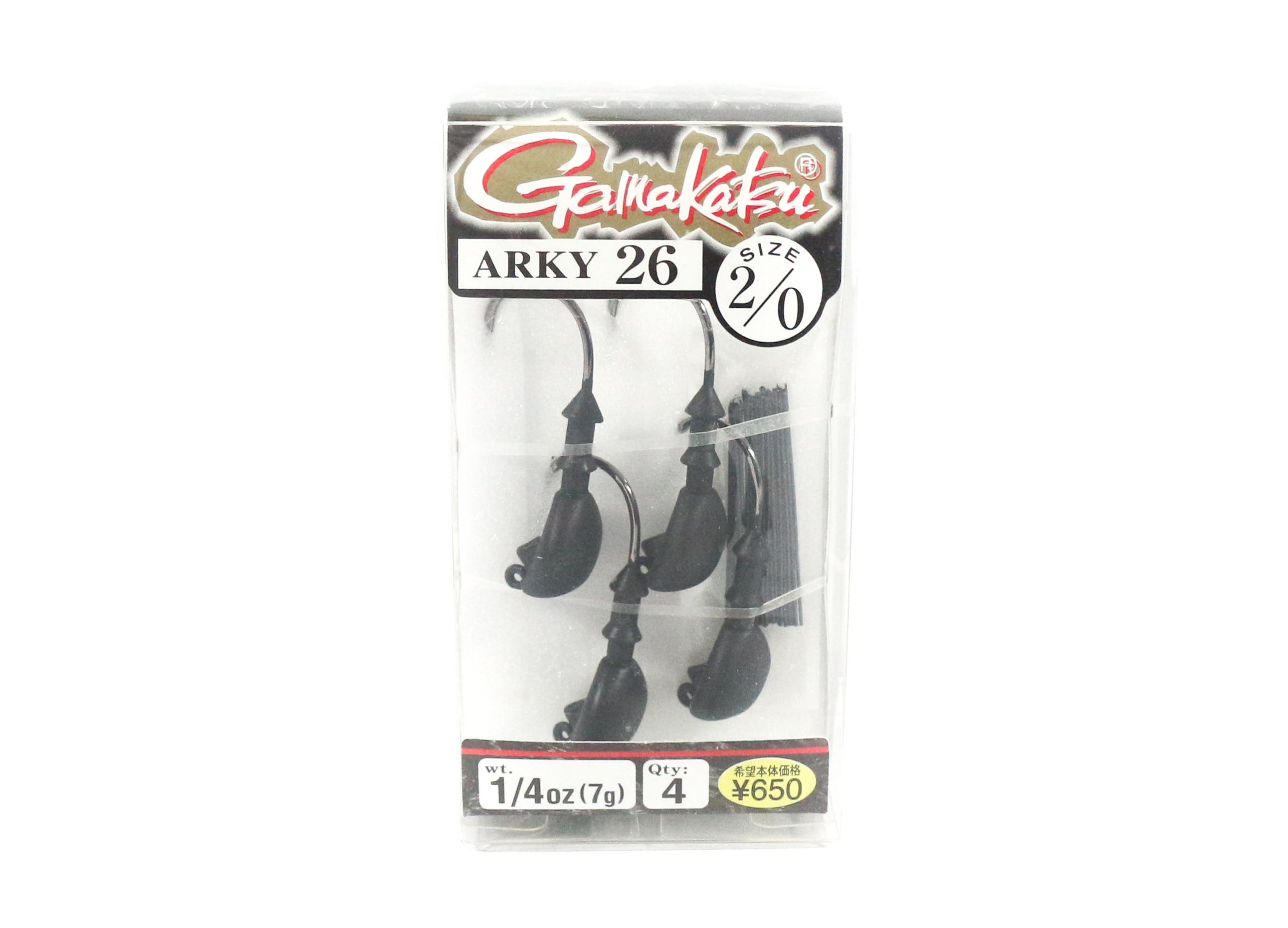 Gamakatsu Jig Head Arky 26 Weedless Jig Head 1/4 oz Size 2/0 (8545)