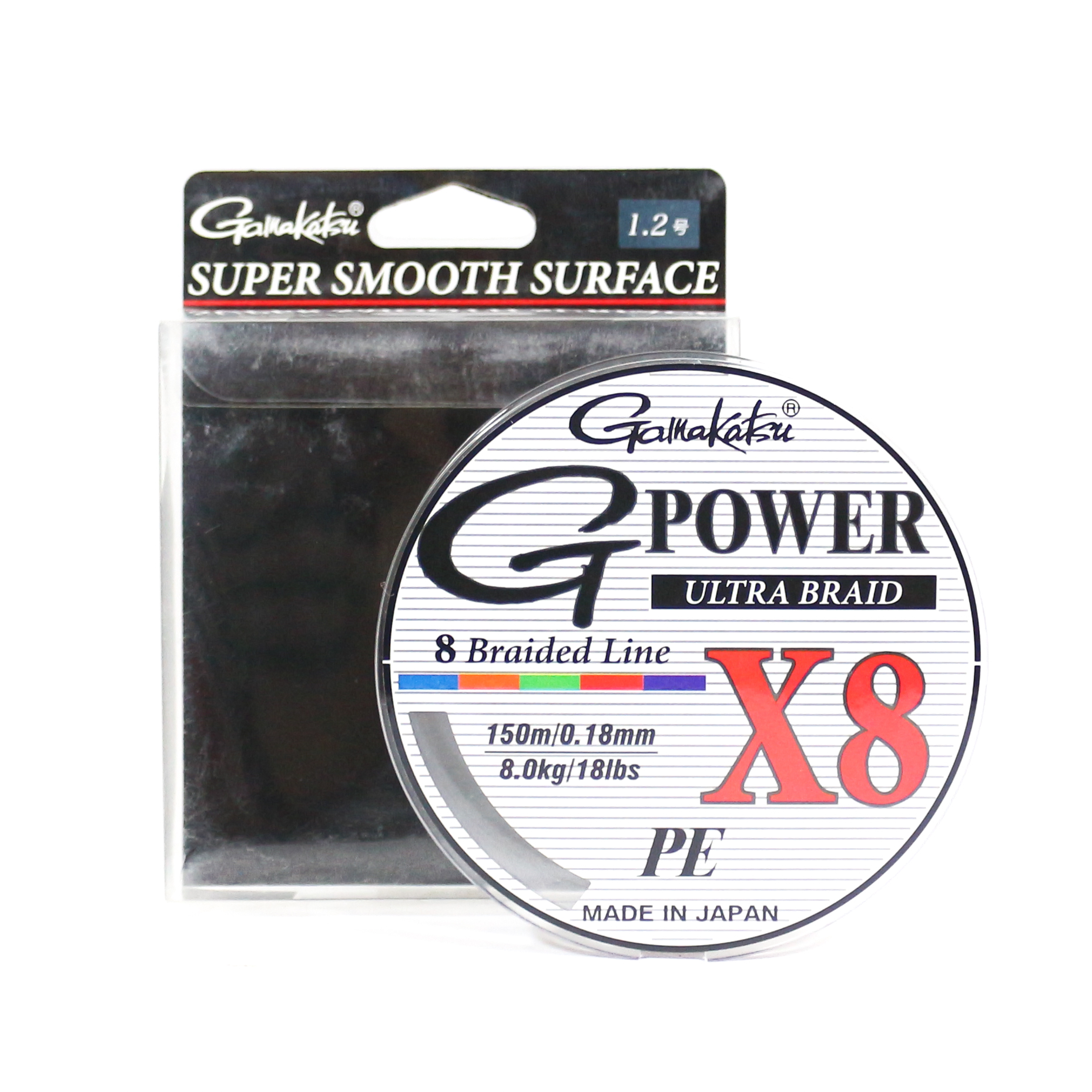 Sale Gamakatsu P.E Line G Power X8 150m P.E 1.2 18lb ,Diameter 0.18 mm (6256)