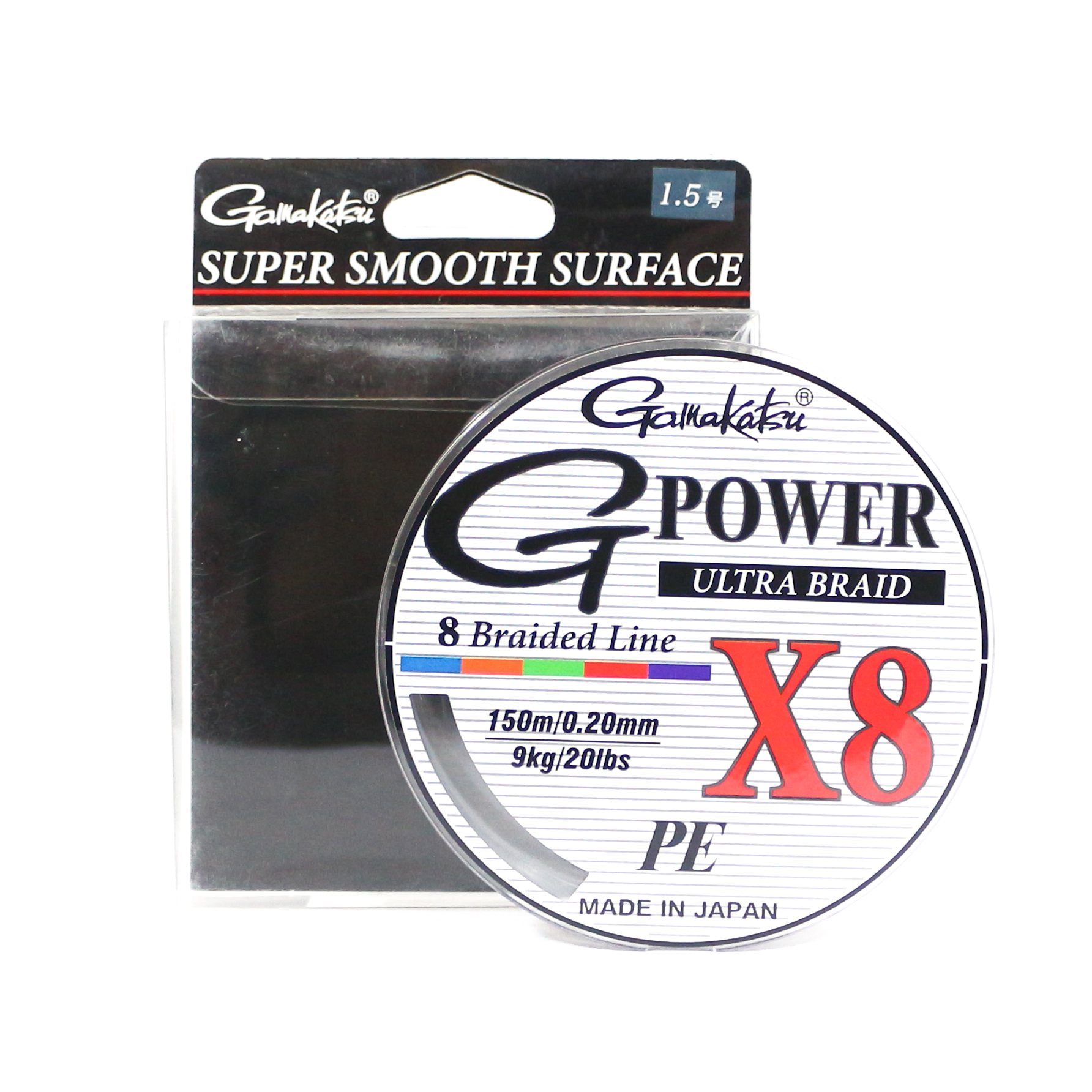 Sale Gamakatsu P.E Line G Power X8 150m P.E 1.5 20lb ,Diameter 0.20 mm (6263)