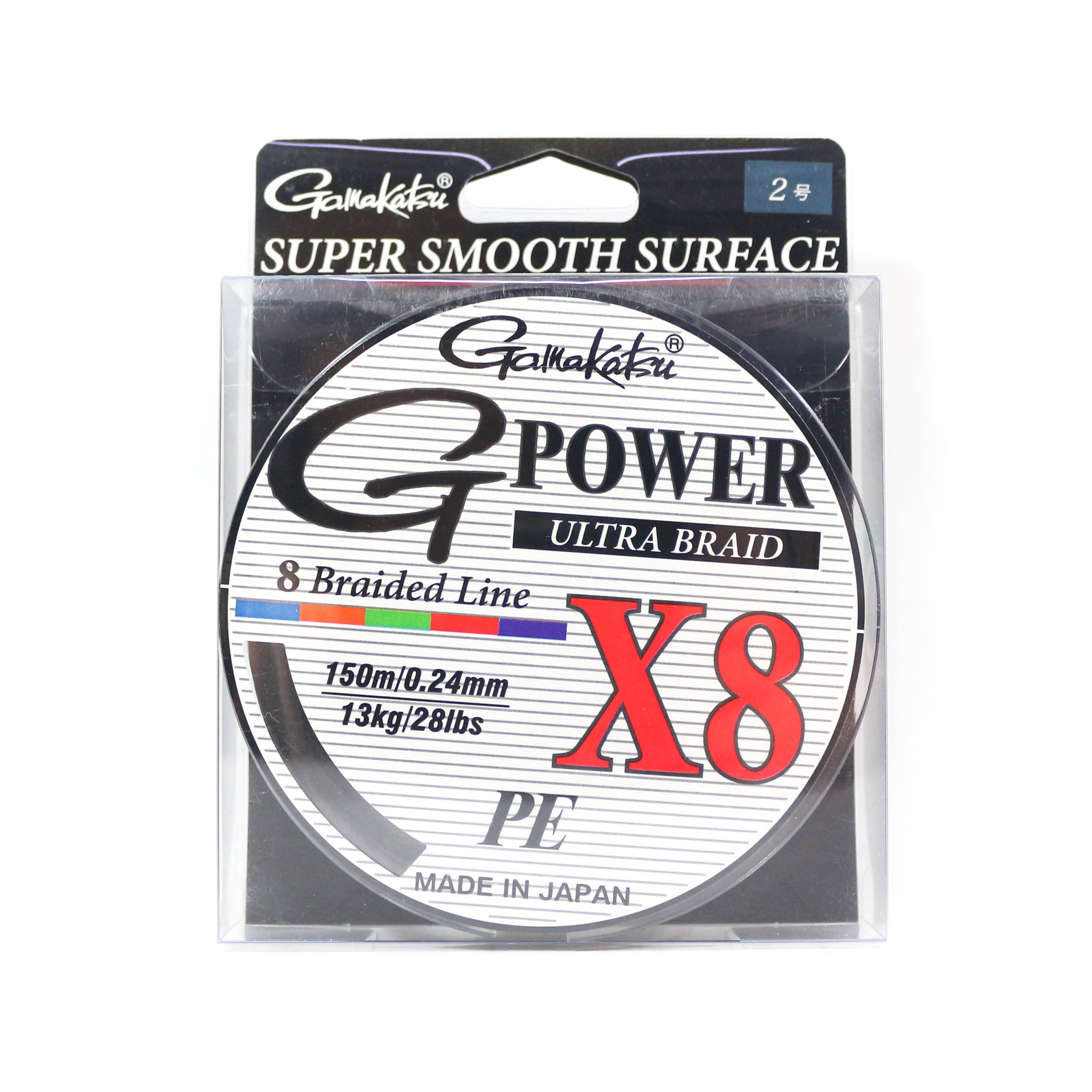 Sale Gamakatsu P.E Line G Power X8 150m P.E 2 28lb ,Diameter 0.24mm (6270)
