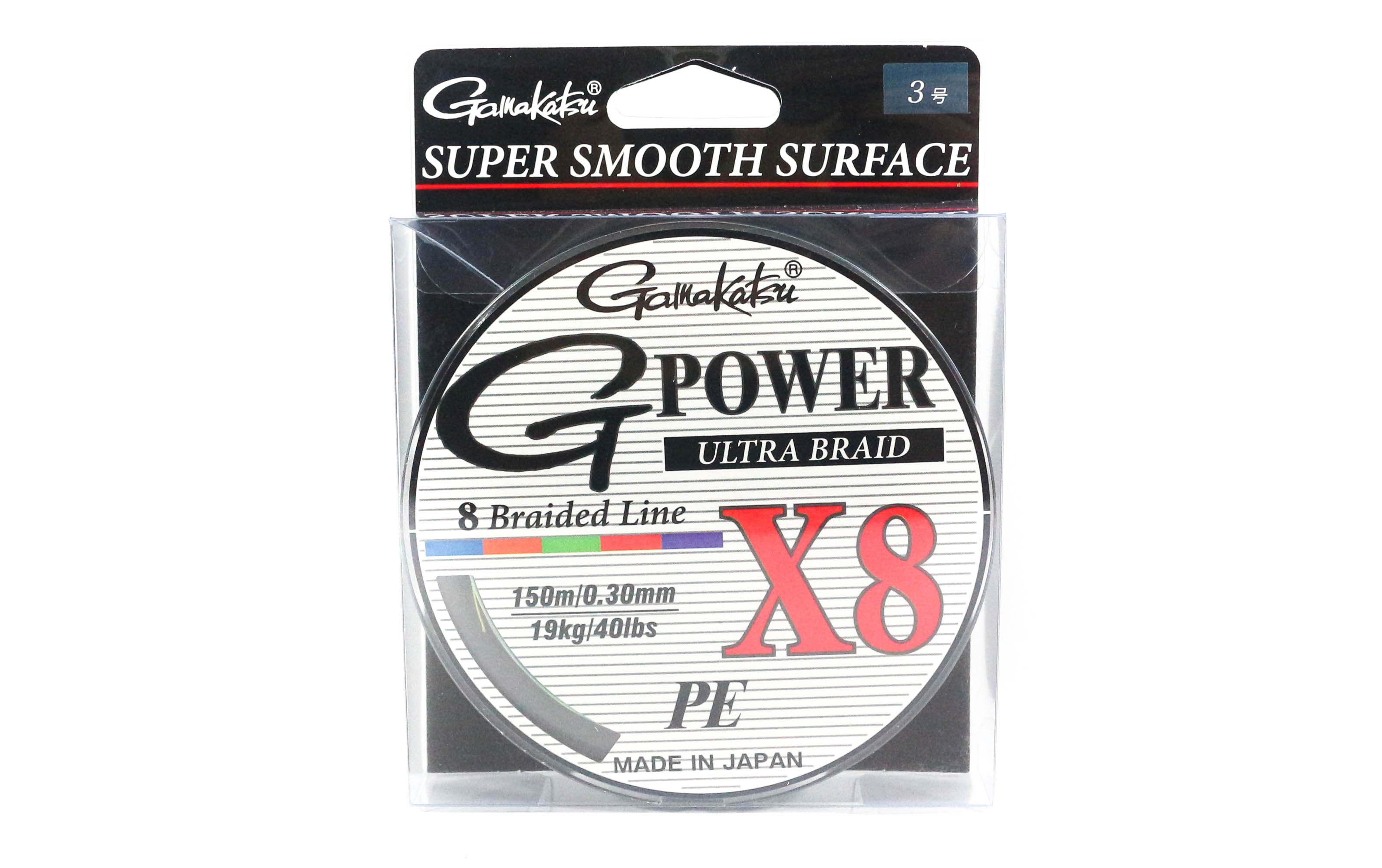 Sale Gamakatsu P.E Line G Power X8 150m P.E 3 40lb ,Diameter 0.30 mm (6294)