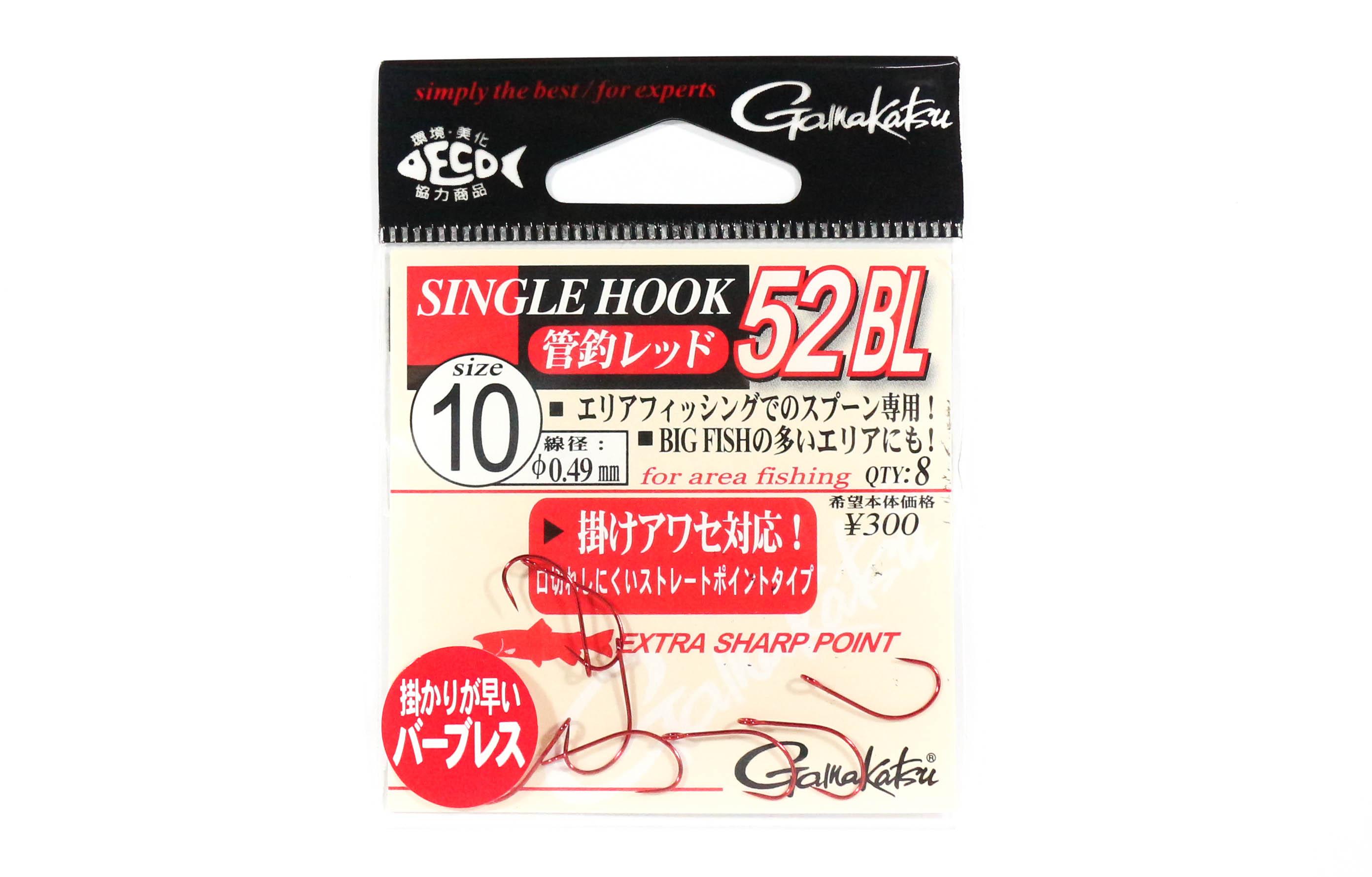 9340 Gamakatsu Single Hook 62 Vertical Heavy Jigging Hook Size 6//0