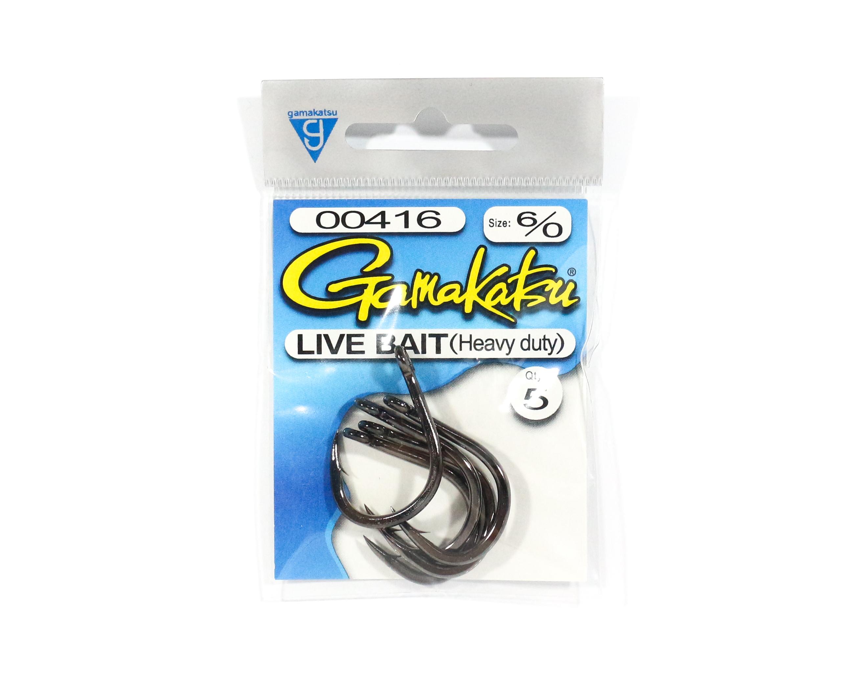 Gamakatsu Live Bait Heavy Duty Size 6/0 ,5 Per pack (5475)