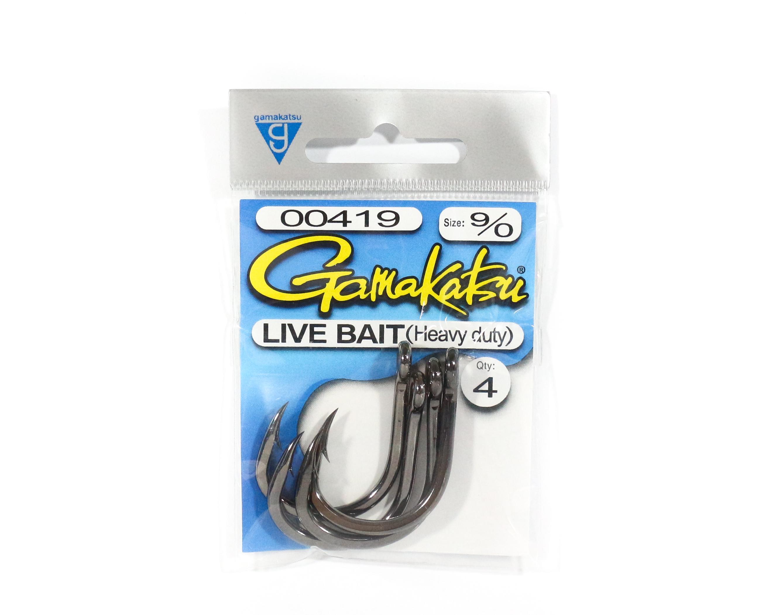 Gamakatsu Live Bait Heavy Duty Size 9/0 ,4 Per pack (5505)