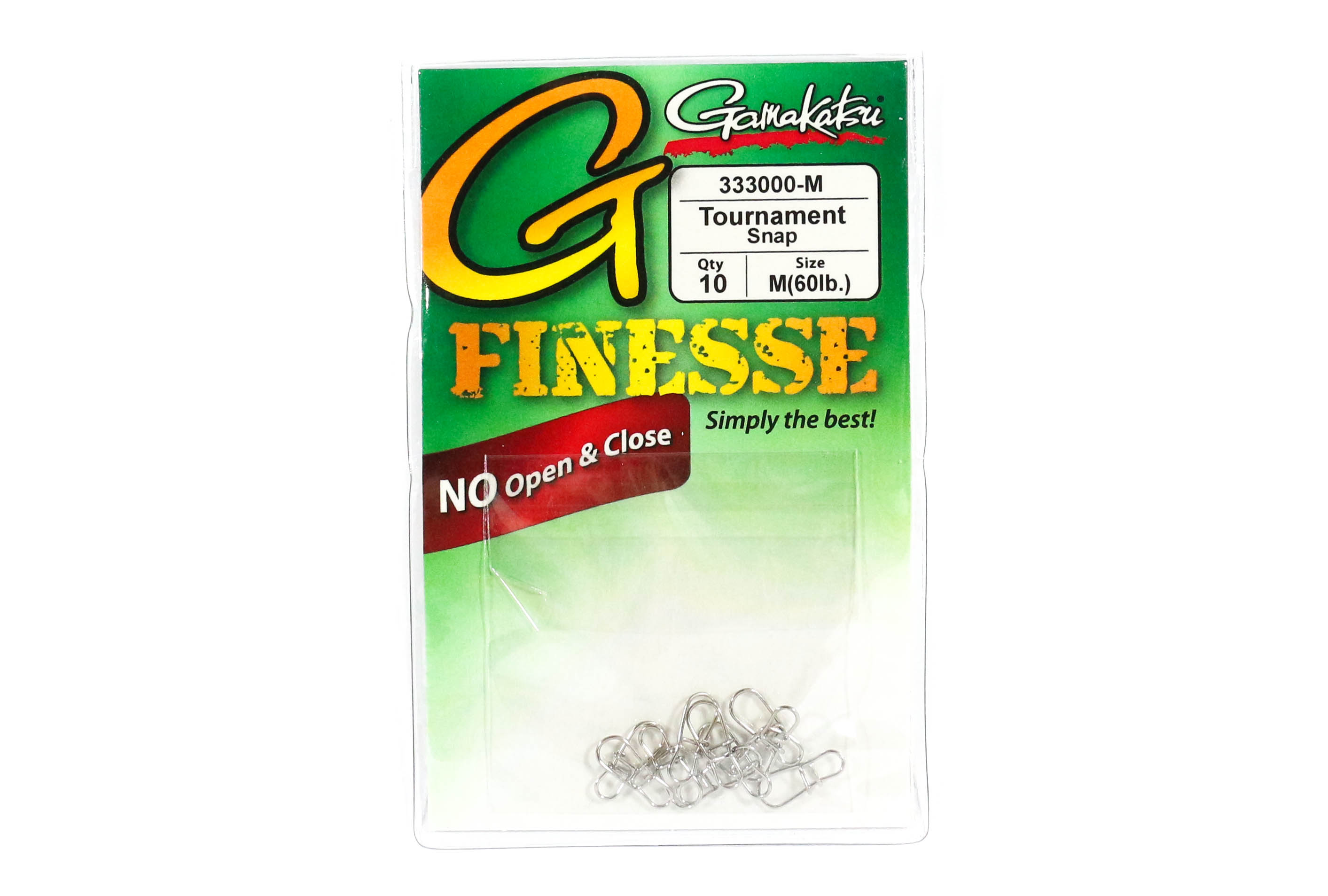 Gamakatsu Tournament Snap for Finesse Size M ,10 Per pack (1461)