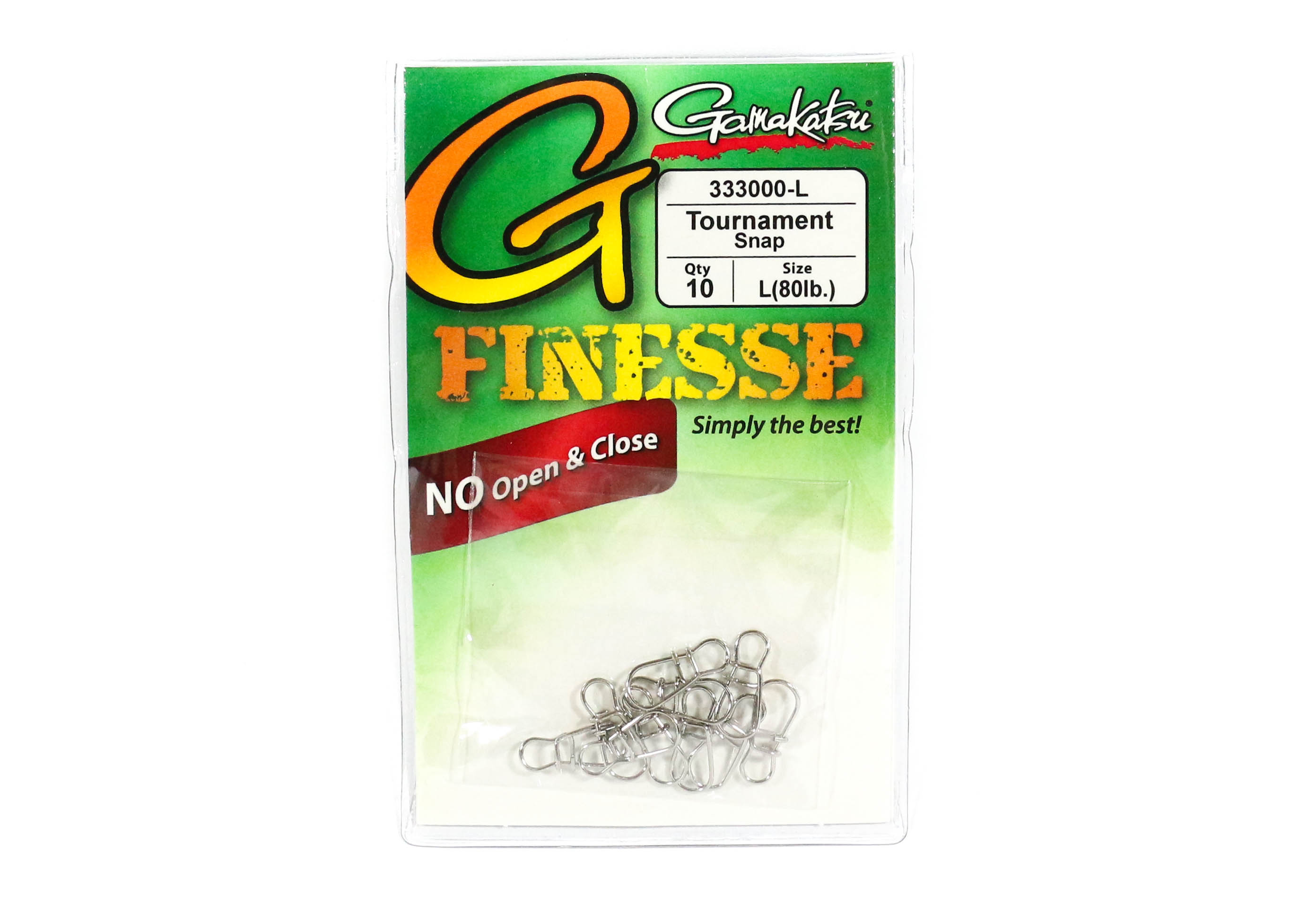 Gamakatsu Tournament Snap for Finesse Size L ,10 Per pack (1478)