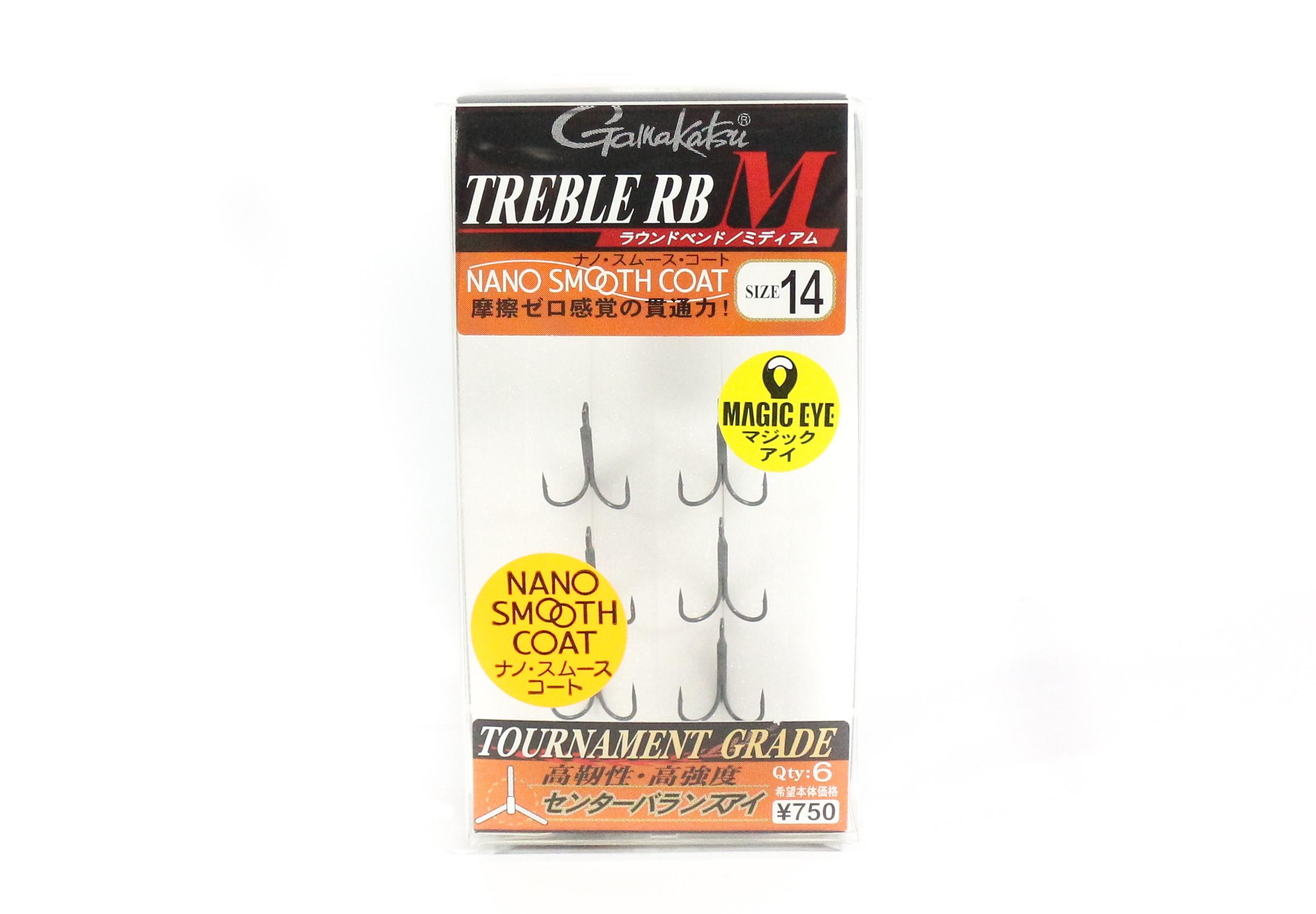 Gamakatsu Treble Hook RB M Nano Coat Size 14 (4608)