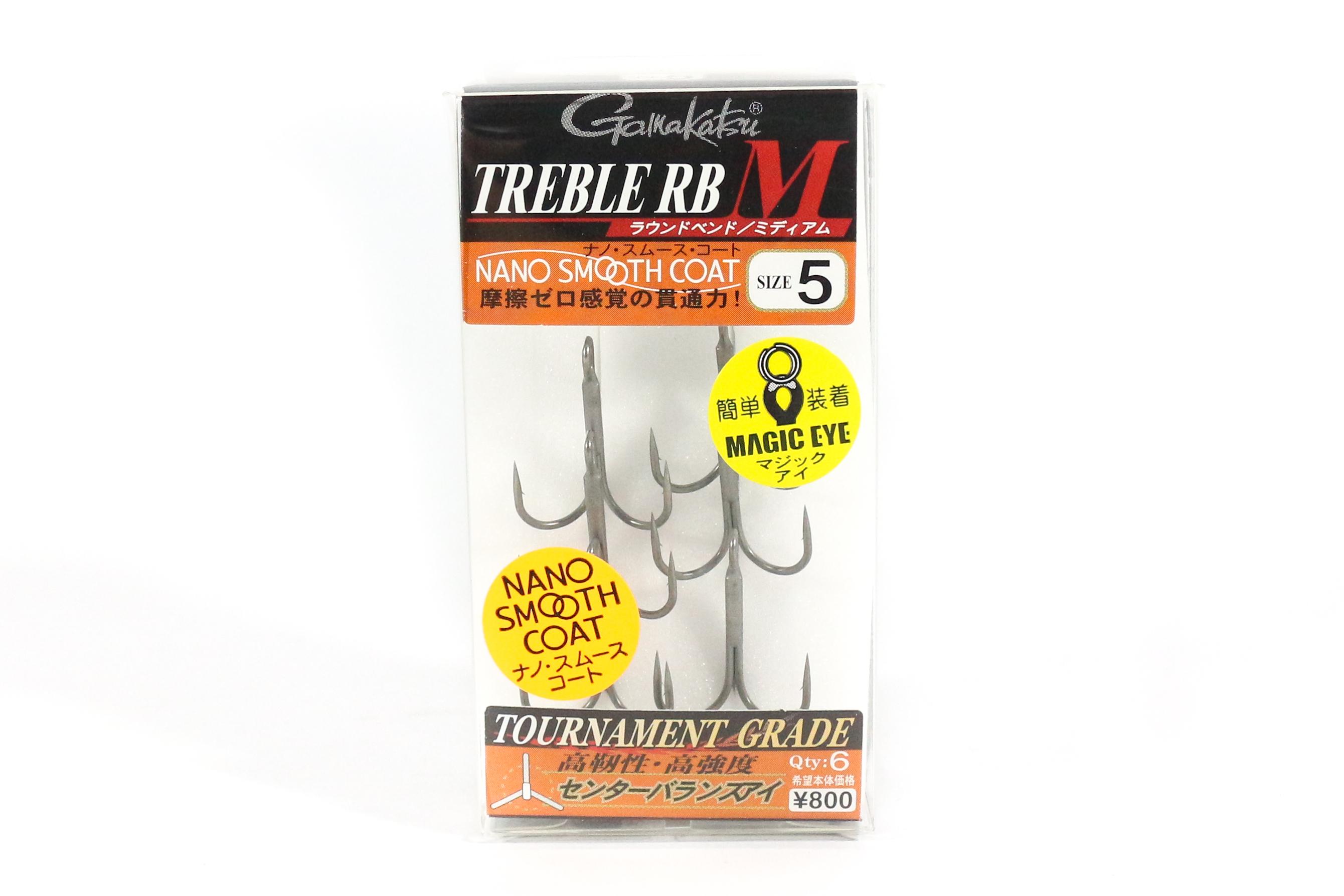 Gamakatsu Treble Hook RB M Nano Coat Size 5 (4660)