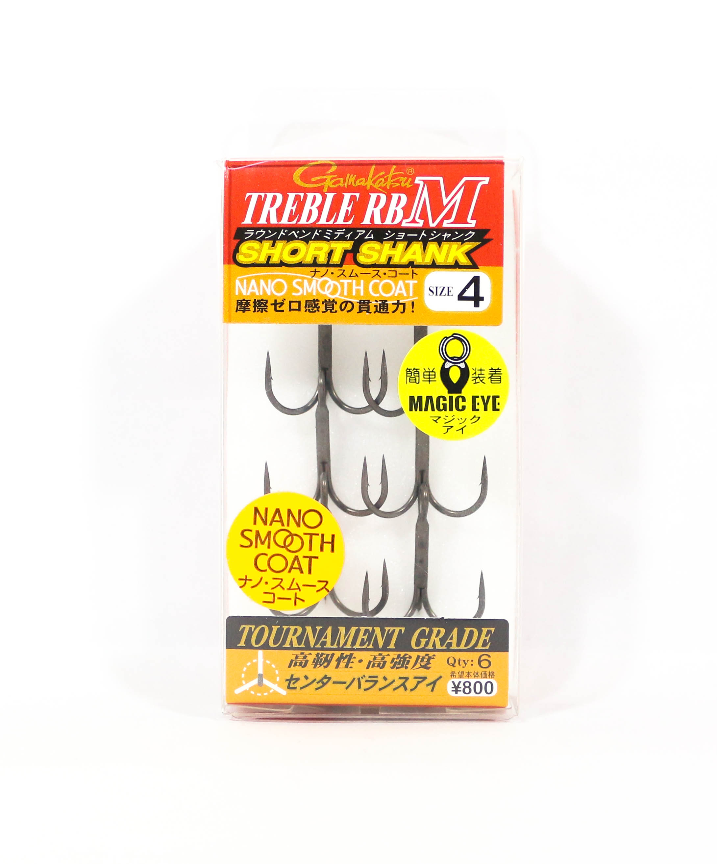 Gamakatsu Treble Hook RB M Short Shank Nano Coat Size 4 (4519)