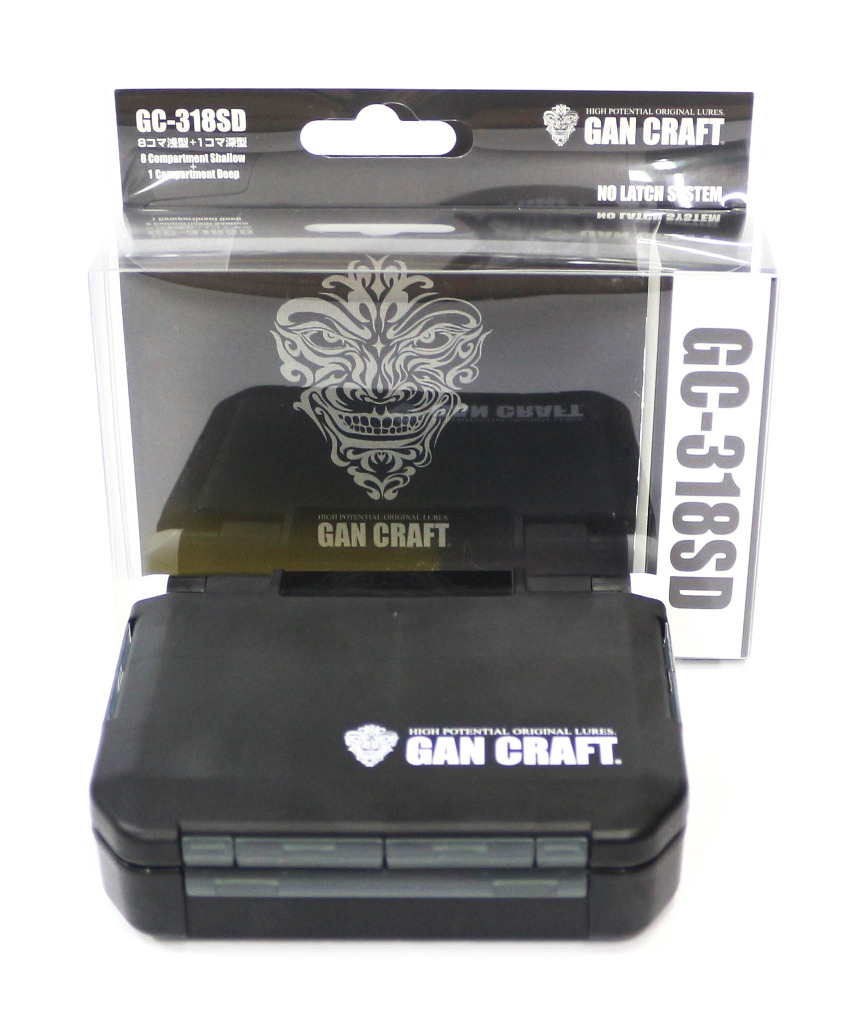 Gan Craft GC-318 SD Tackle Lure Box Case Original 122 x 87 x 34 mm Black (8908)