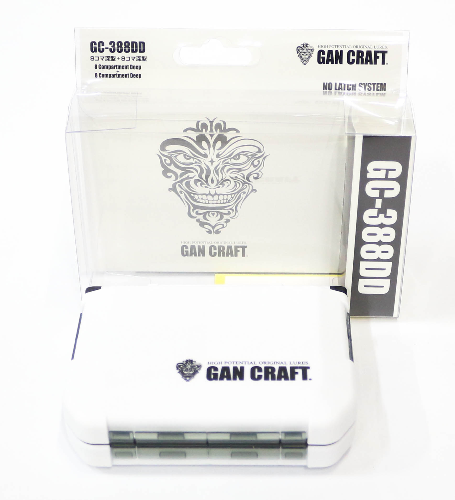 Gan Craft GC-388DD Tackle Lure Box Case Orignial 122 x 87 x 34 mm White (8915)