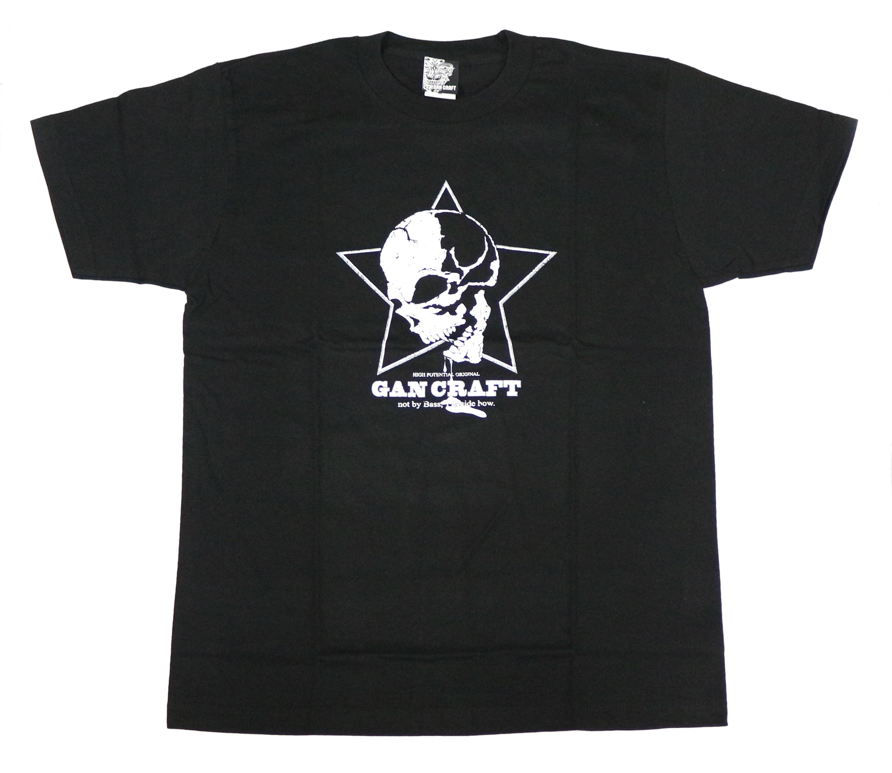 Gan Craft T Shirt Short Sleeve Star Skull Tee Size L Black (3712)