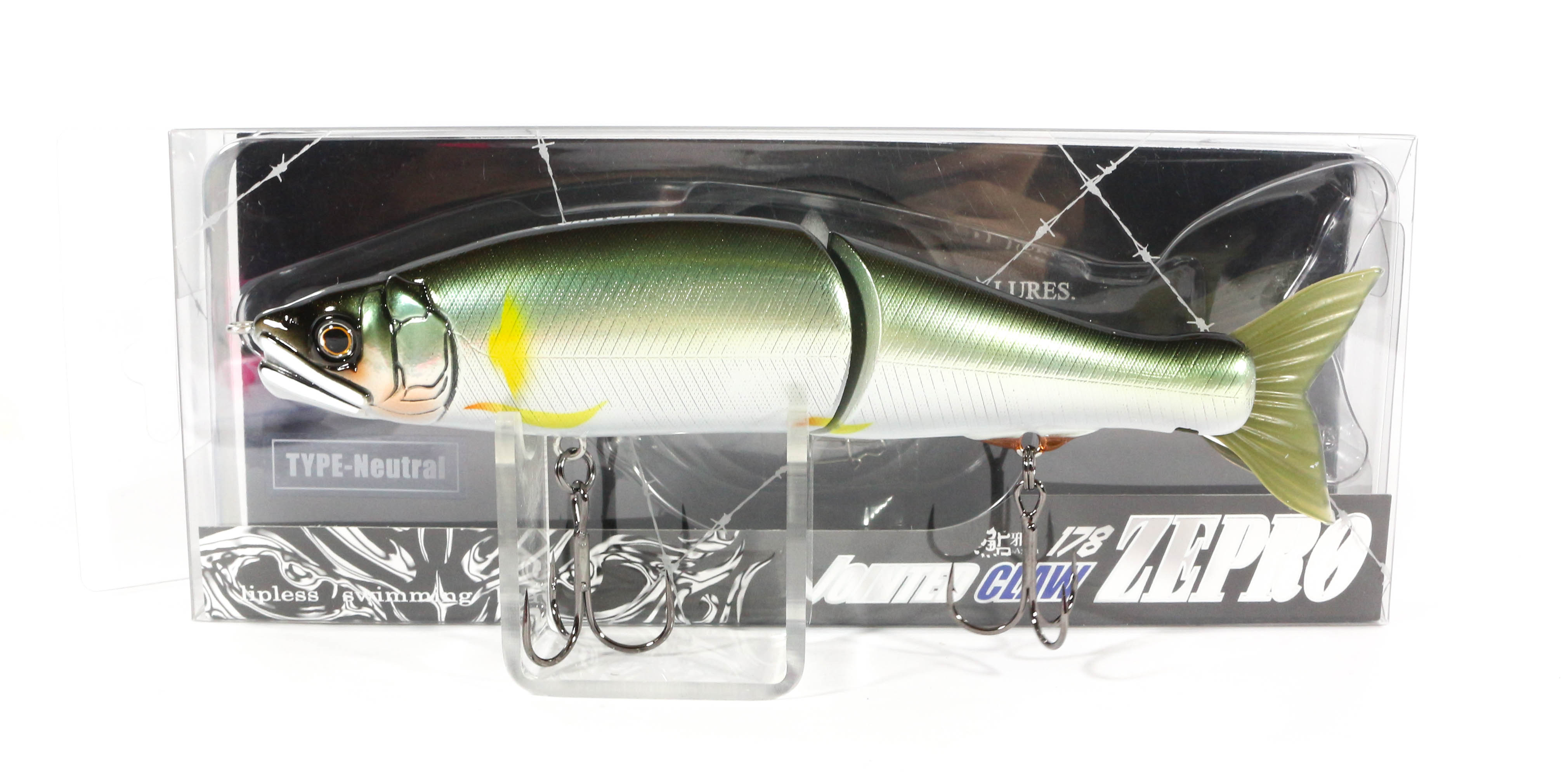 Gan Craft Jointed Claw 178 Zepro Neutral Suspend Jointed Lure 01 (0520)