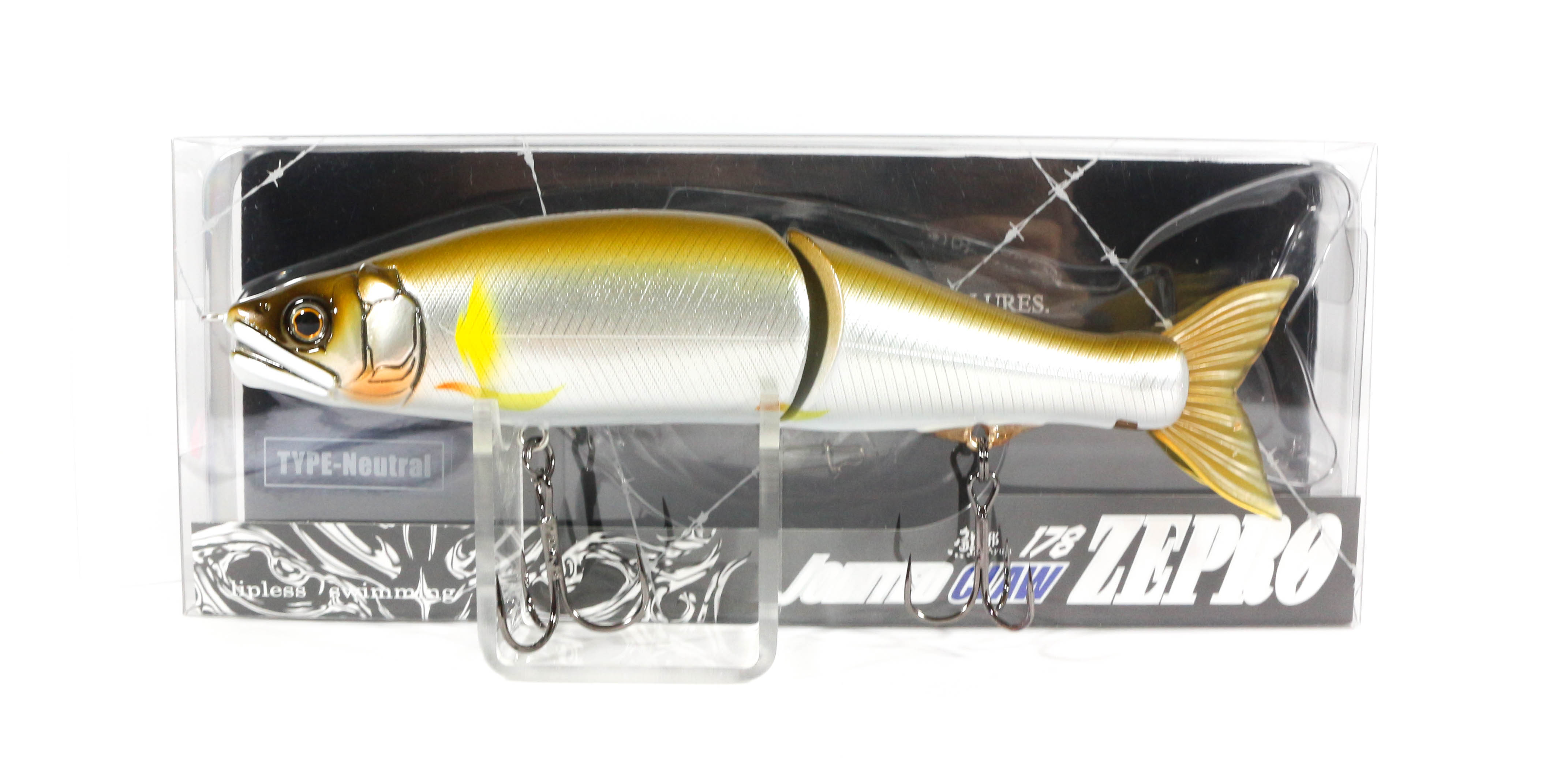 Gan Craft Jointed Claw 178 Zepro Neutral Suspend Jointed Lure 02 (0537)