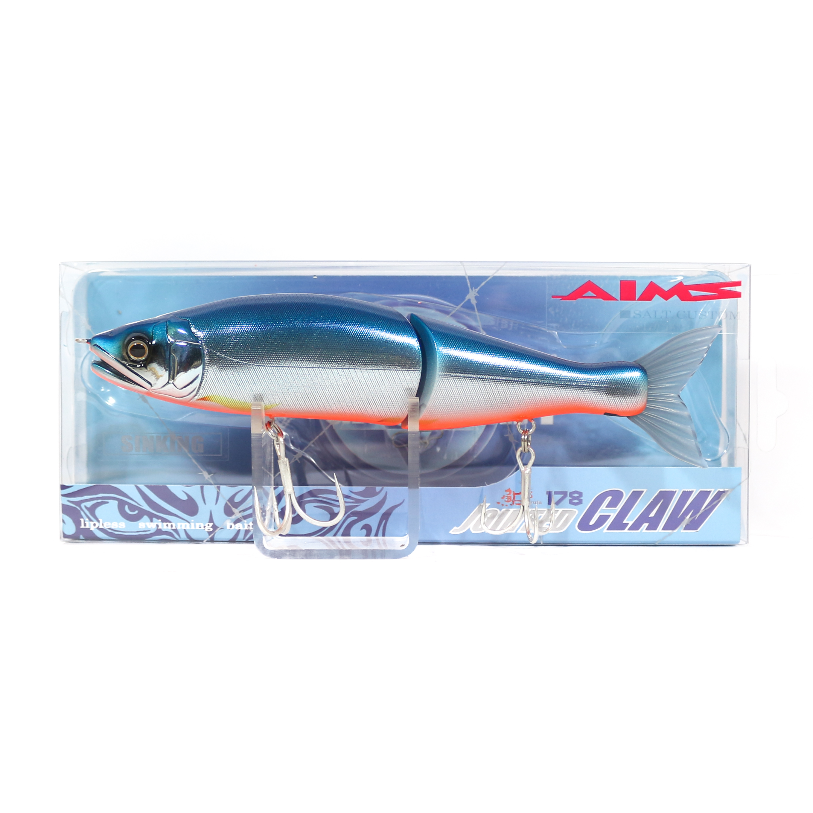 Gan Craft Jointed Claw 178 Sinking Jointed Lure AS-04 (0496)