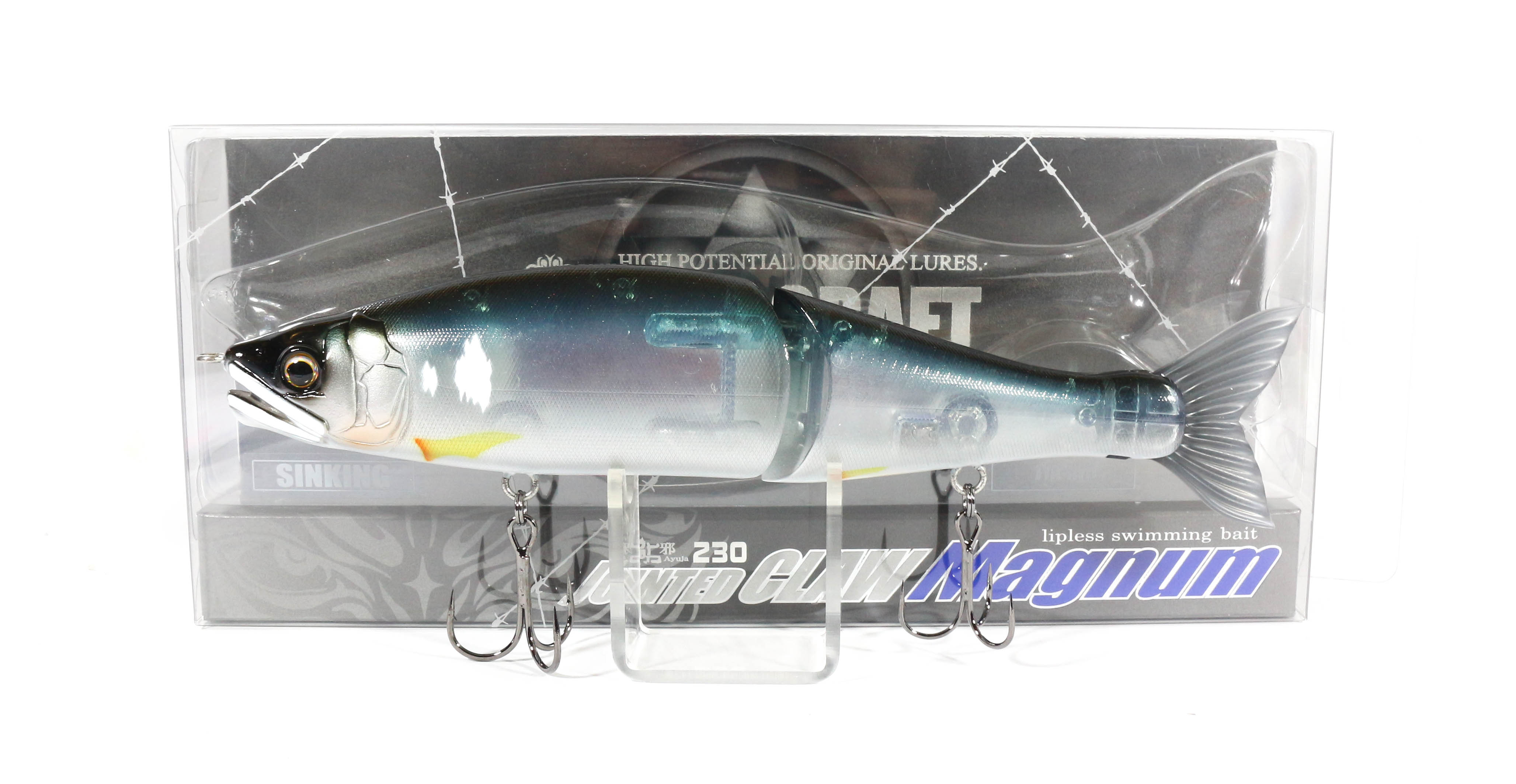Gan Craft Jointed Claw 230 Magnum Sinking Jointed Lure 03 (1336)