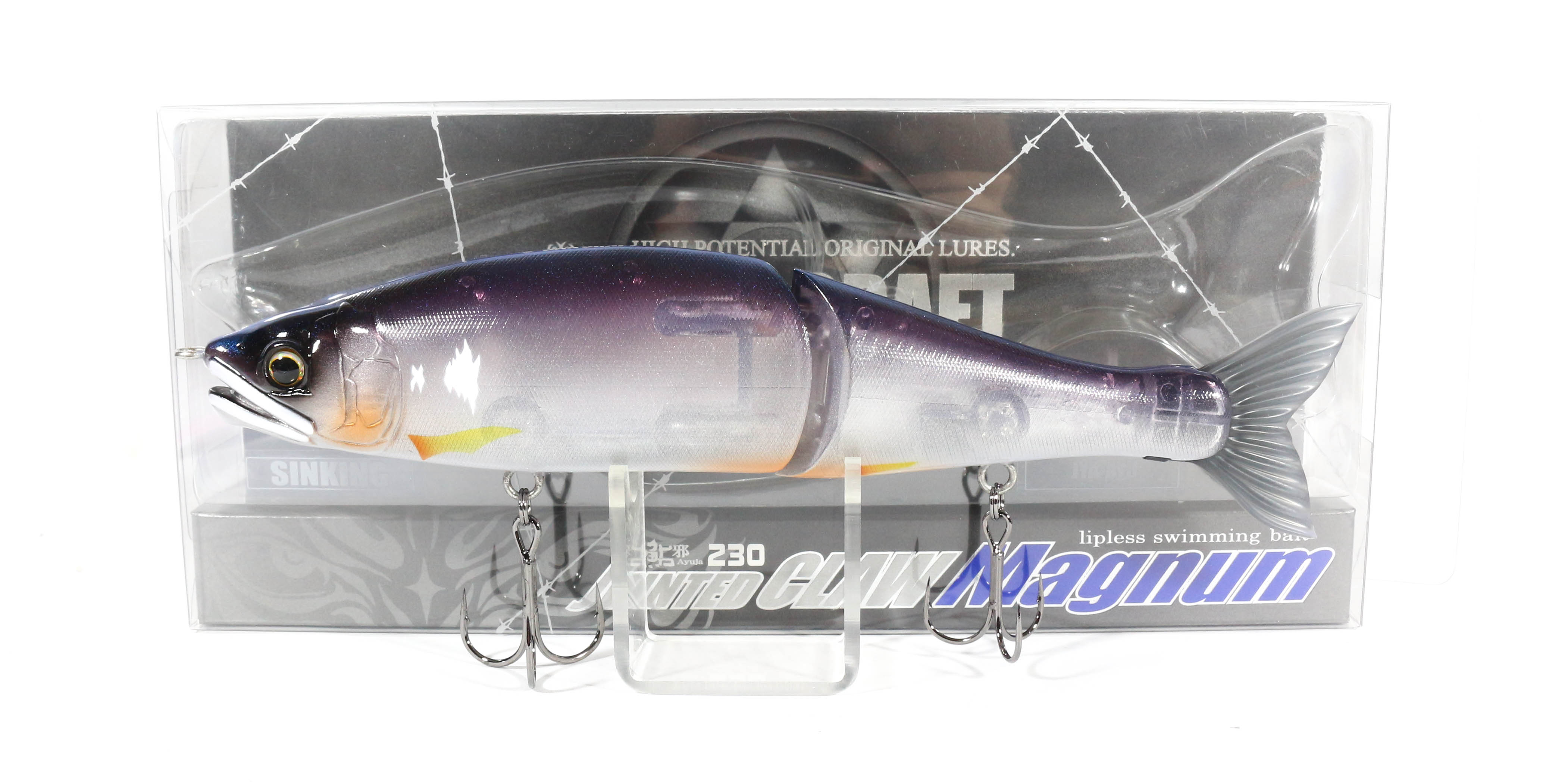 Gan Craft Jointed Claw 230 Magnum Sinking Jointed Lure 04 (1343)