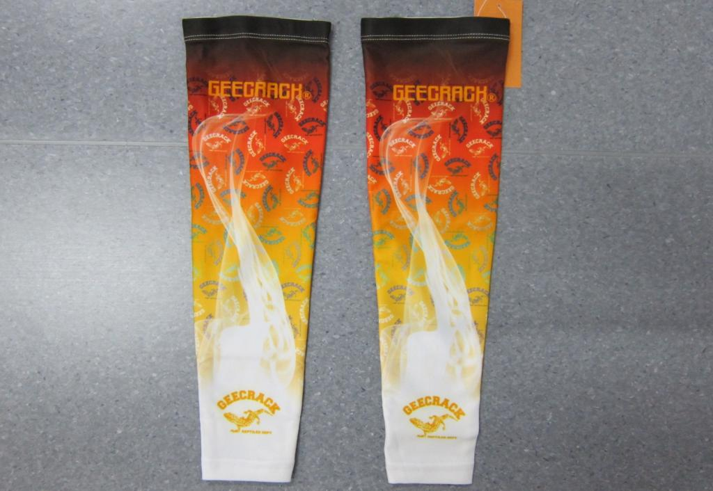 Sale Gee Crack Arm Socks UV Proof Size M Fire Orange (3954)