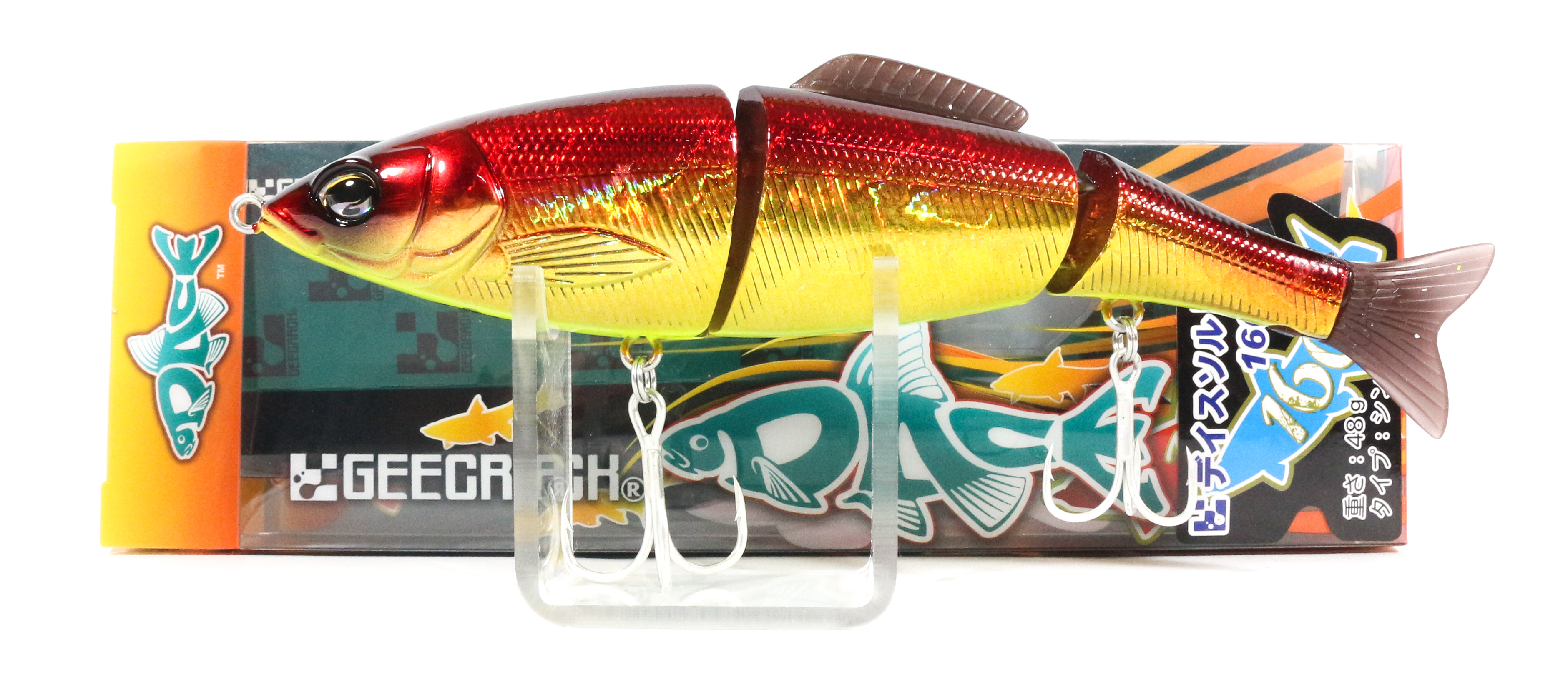 Sale Gee Crack Dace Salt 160S Jointed Sinking Lure 003 (8003)