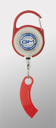 Golden Mean GM Pin on Reel and Line Cutter Carabina 65cm Red (3050)