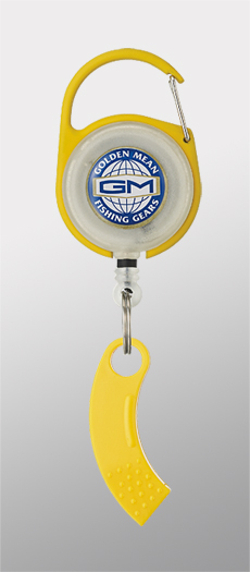 Golden Mean GM Pin on Reel and Line Cutter Carabina 65cm Yellow (3074)