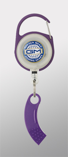 Golden Mean GM Pin on Reel and Line Cutter Carabina 65cm Purple (3081)