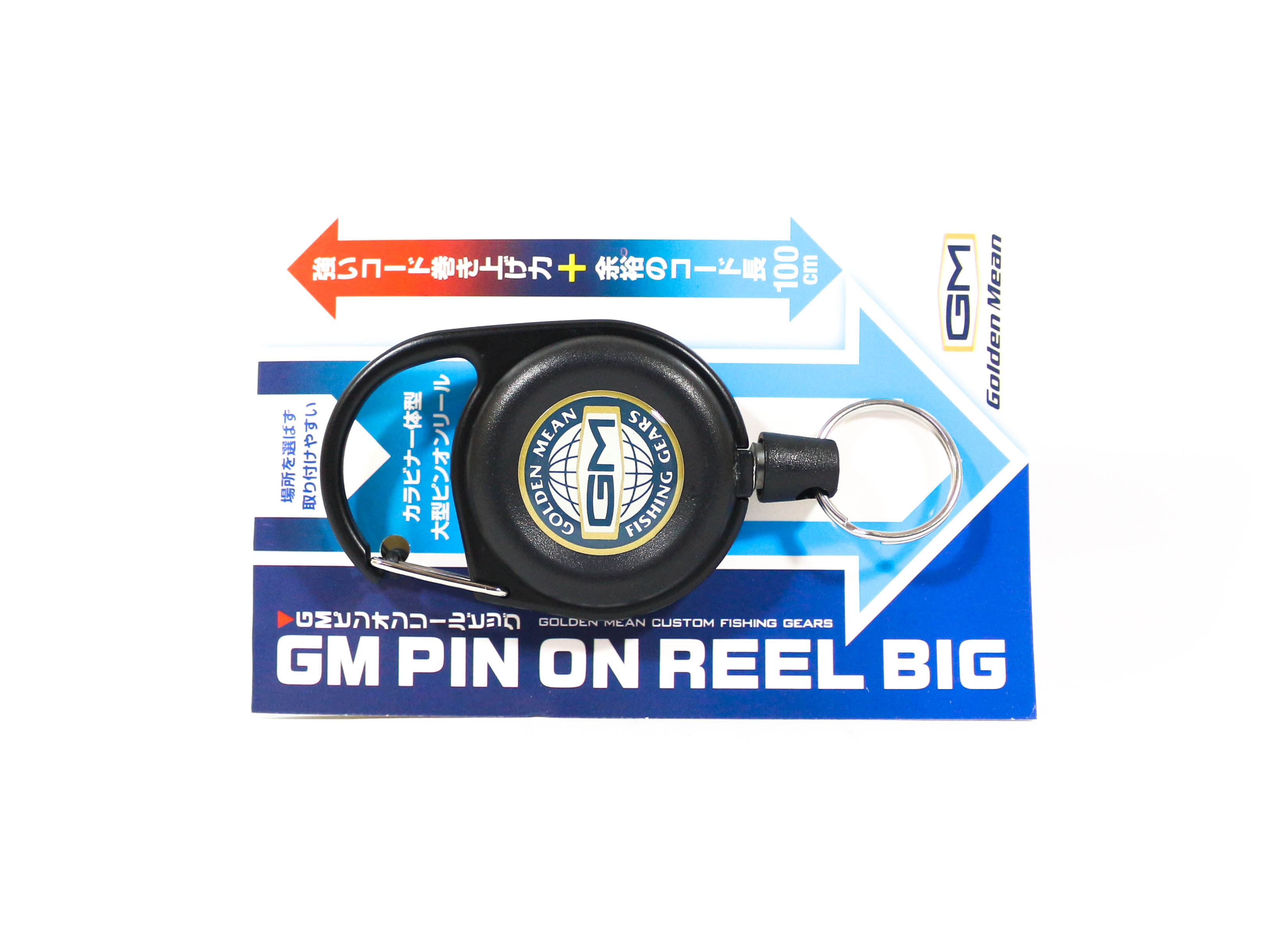 Golden Mean GM Pin on Reel Big Carabina 100cm Black (6167)