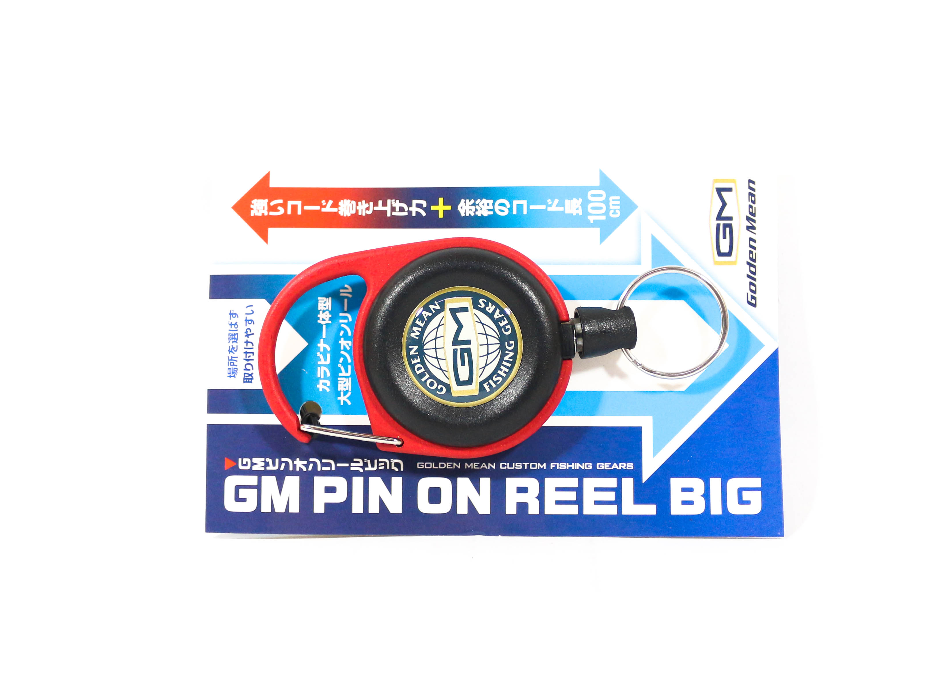 Golden Mean GM Pin on Reel Big Carabina 100cm Red (6174)
