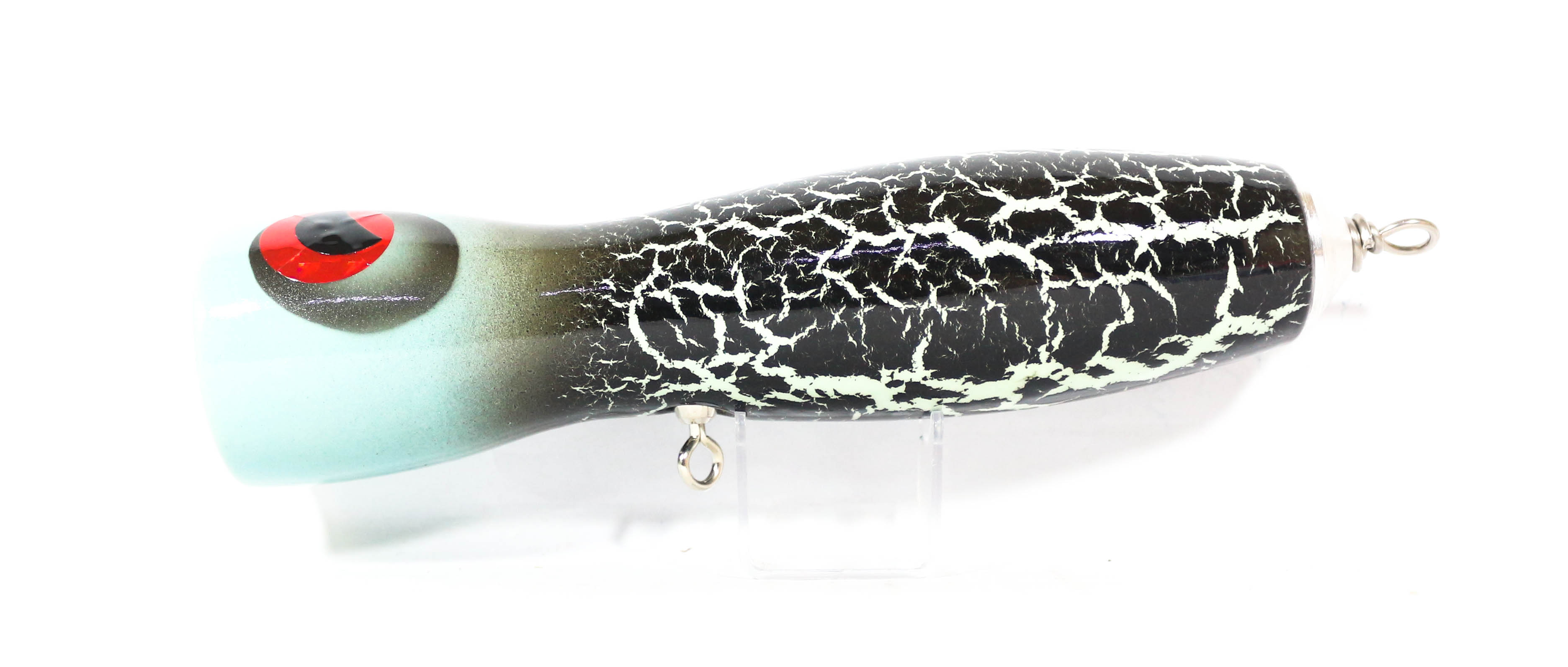 Handmade Popper Glowing Crack Floating 190 mm 130 grams Blue Head (1006)