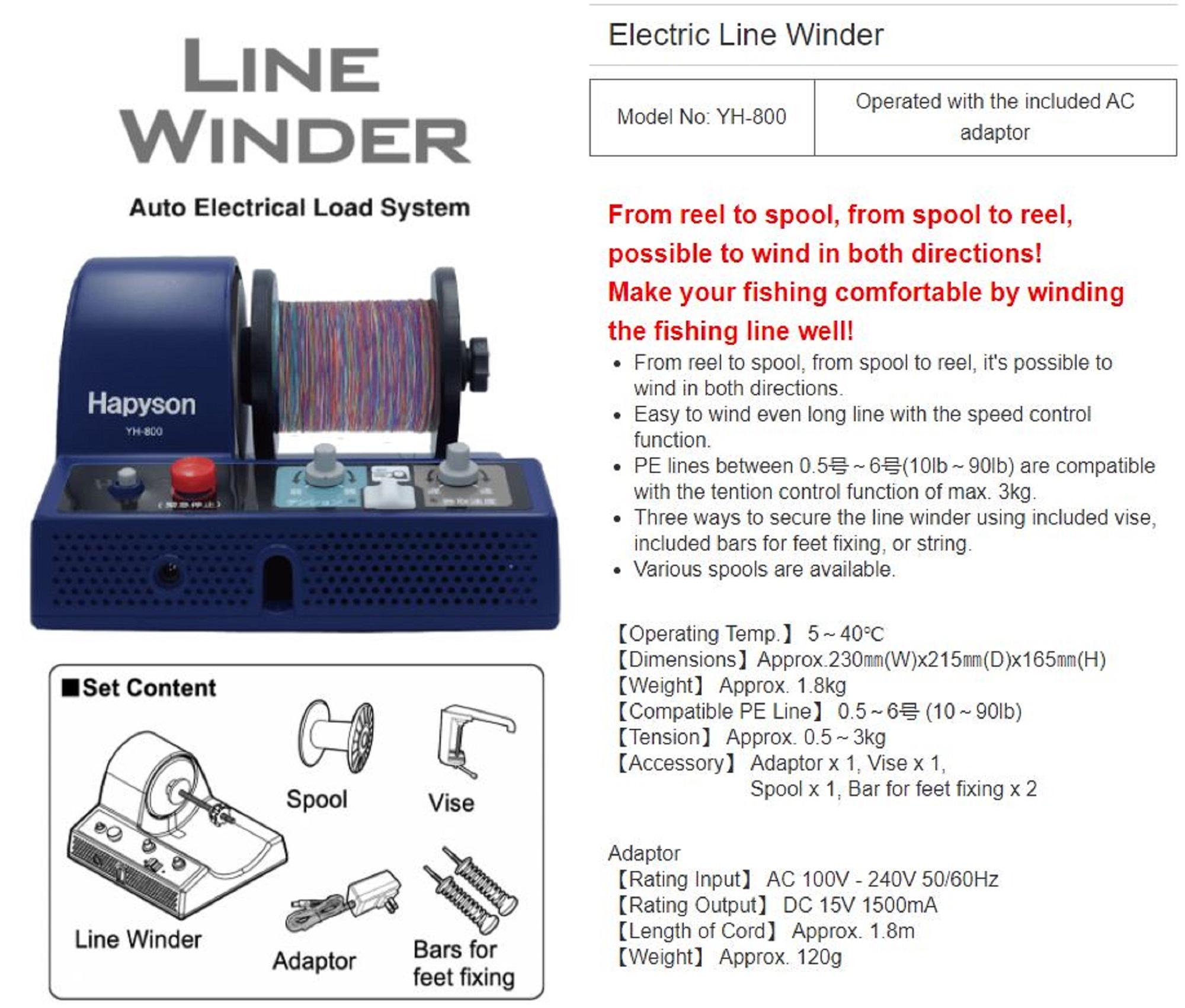 Hapyson YH-800 Line Winder Electric (3222)