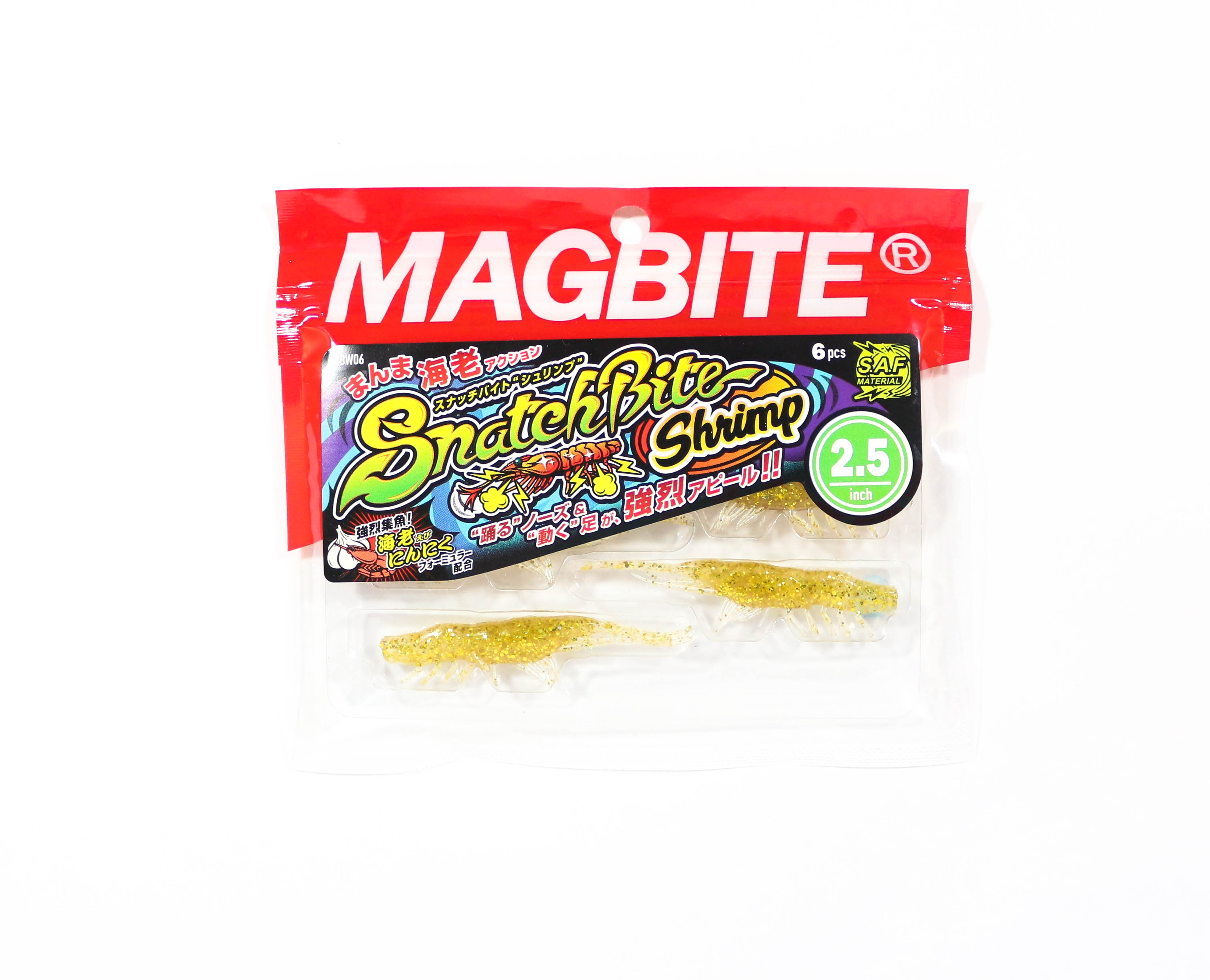 Harimitsu Mag Bite Snatch Shrimp 2.5 Inch 6 per pack 02 (6508)