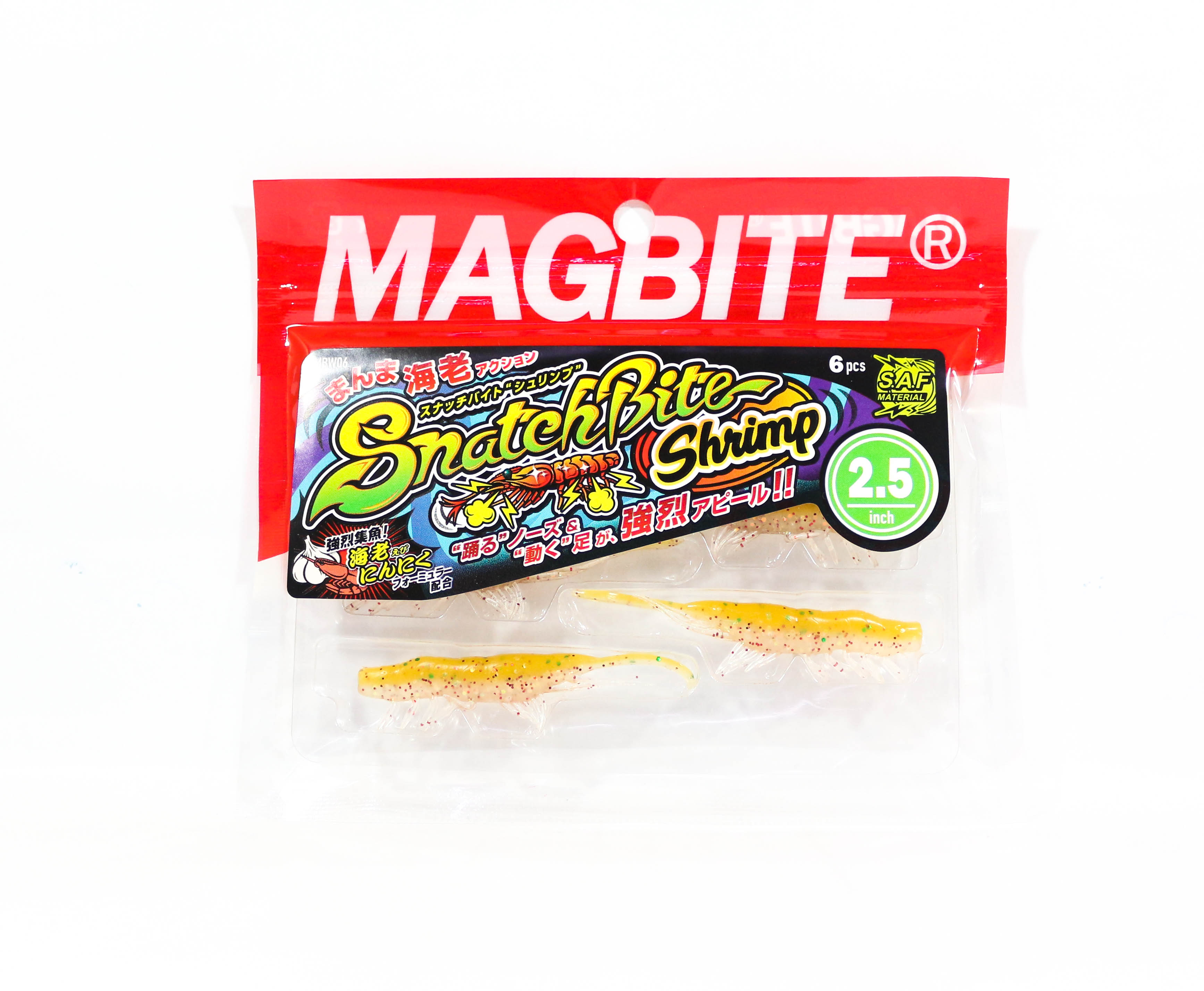Harimitsu Mag Bite Snatch Shrimp 2.5 Inch 6 per pack 04 (6522)