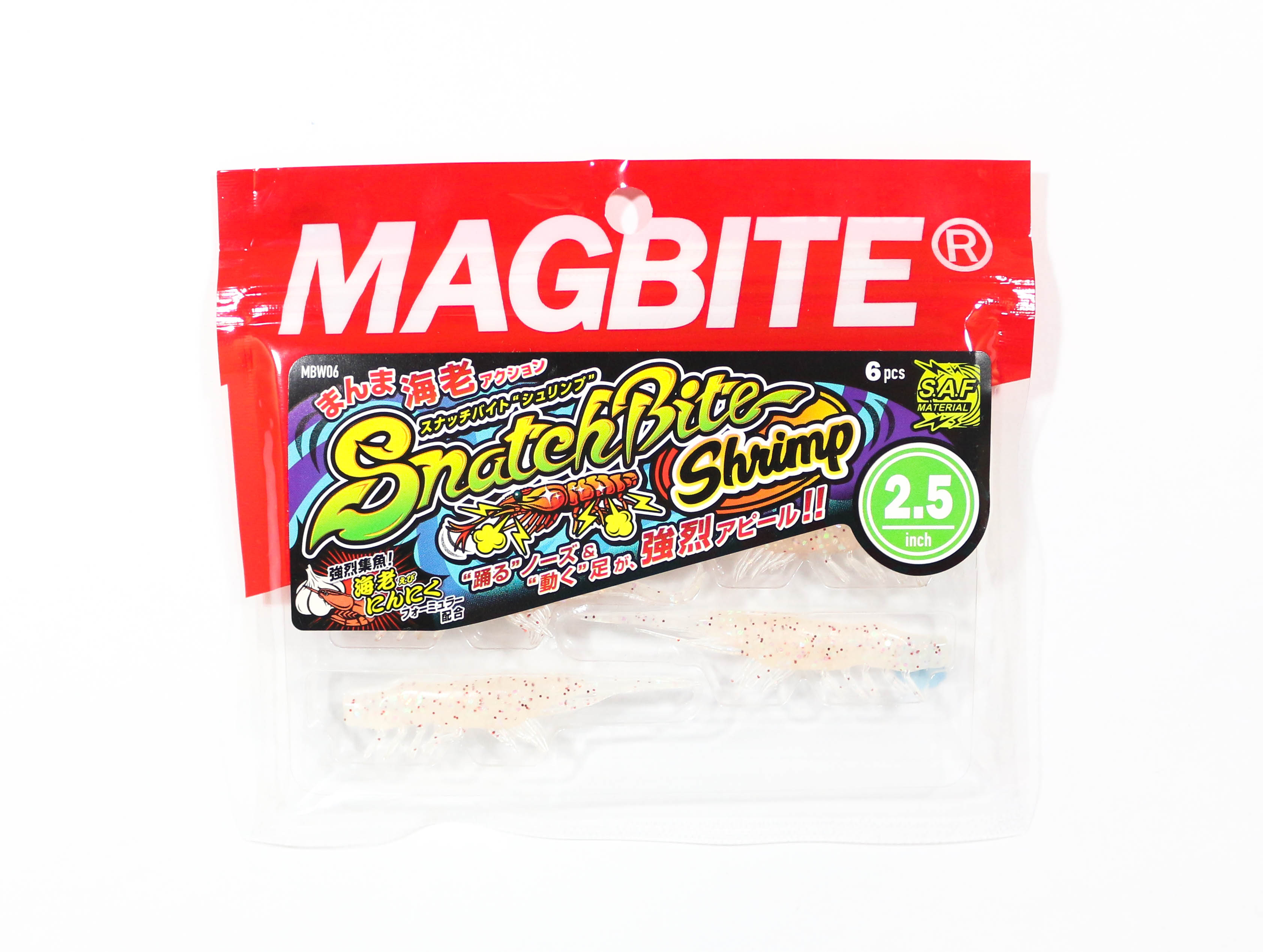 Harimitsu Mag Bite Snatch Shrimp 2.5 Inch 6 per pack 05 (6539)