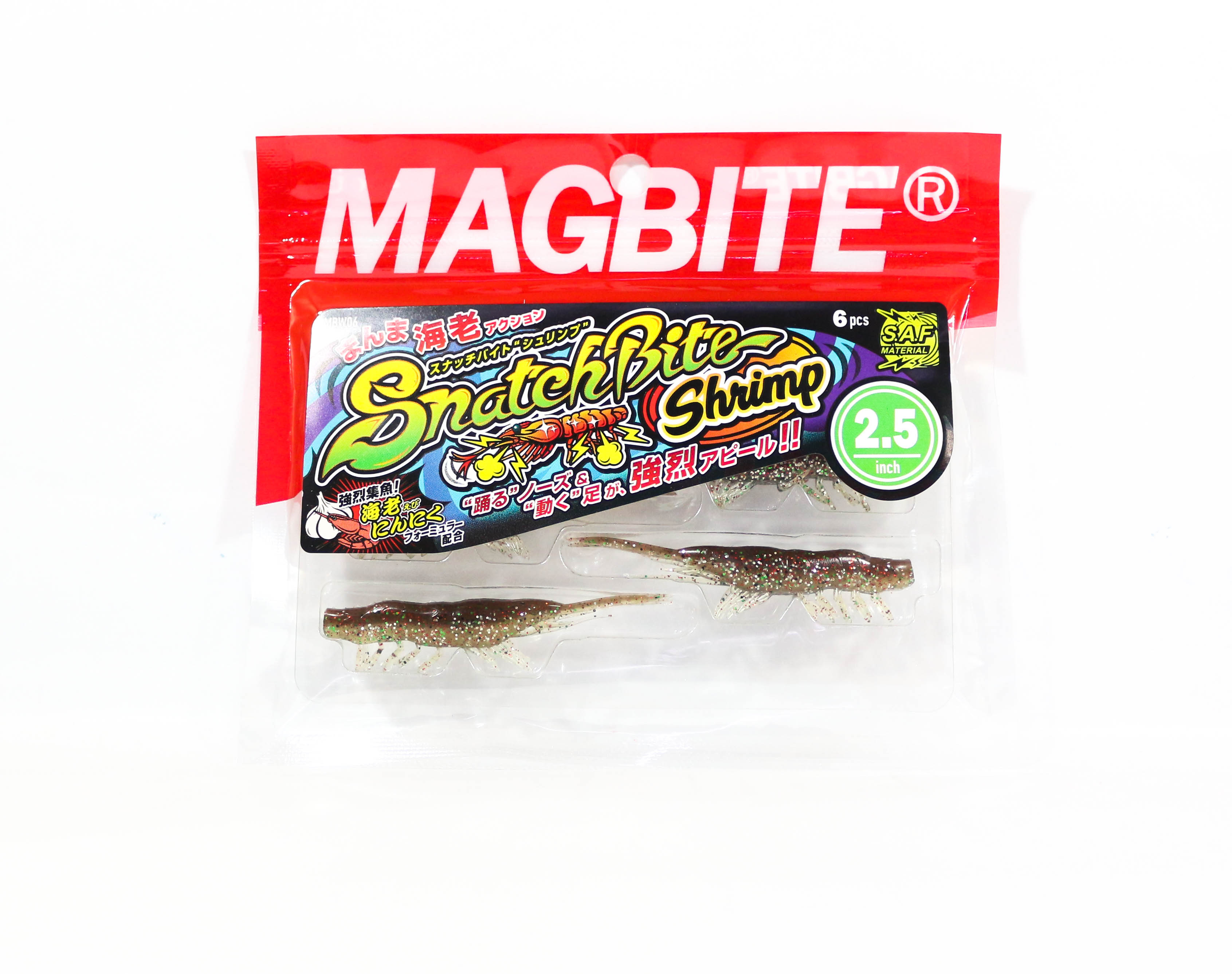Harimitsu Mag Bite Snatch Shrimp 2.5 Inch 6 per pack 06 (6546)