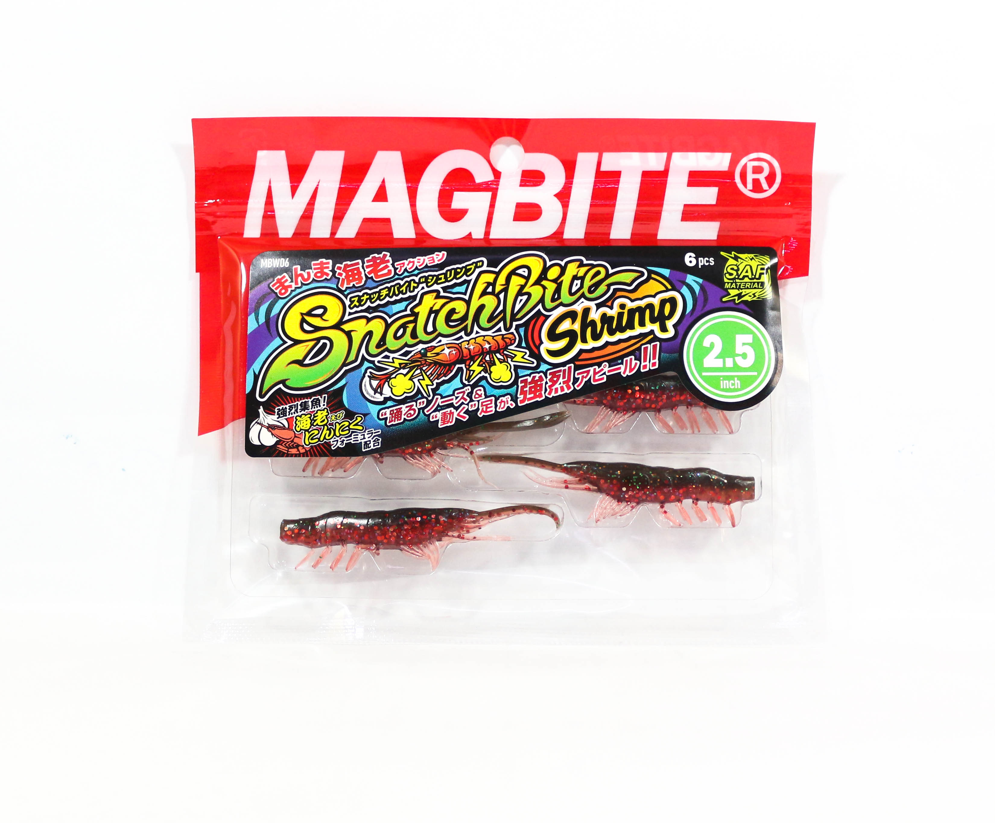 Harimitsu Mag Bite Snatch Shrimp 2.5 Inch 6 per pack 10 (6560)