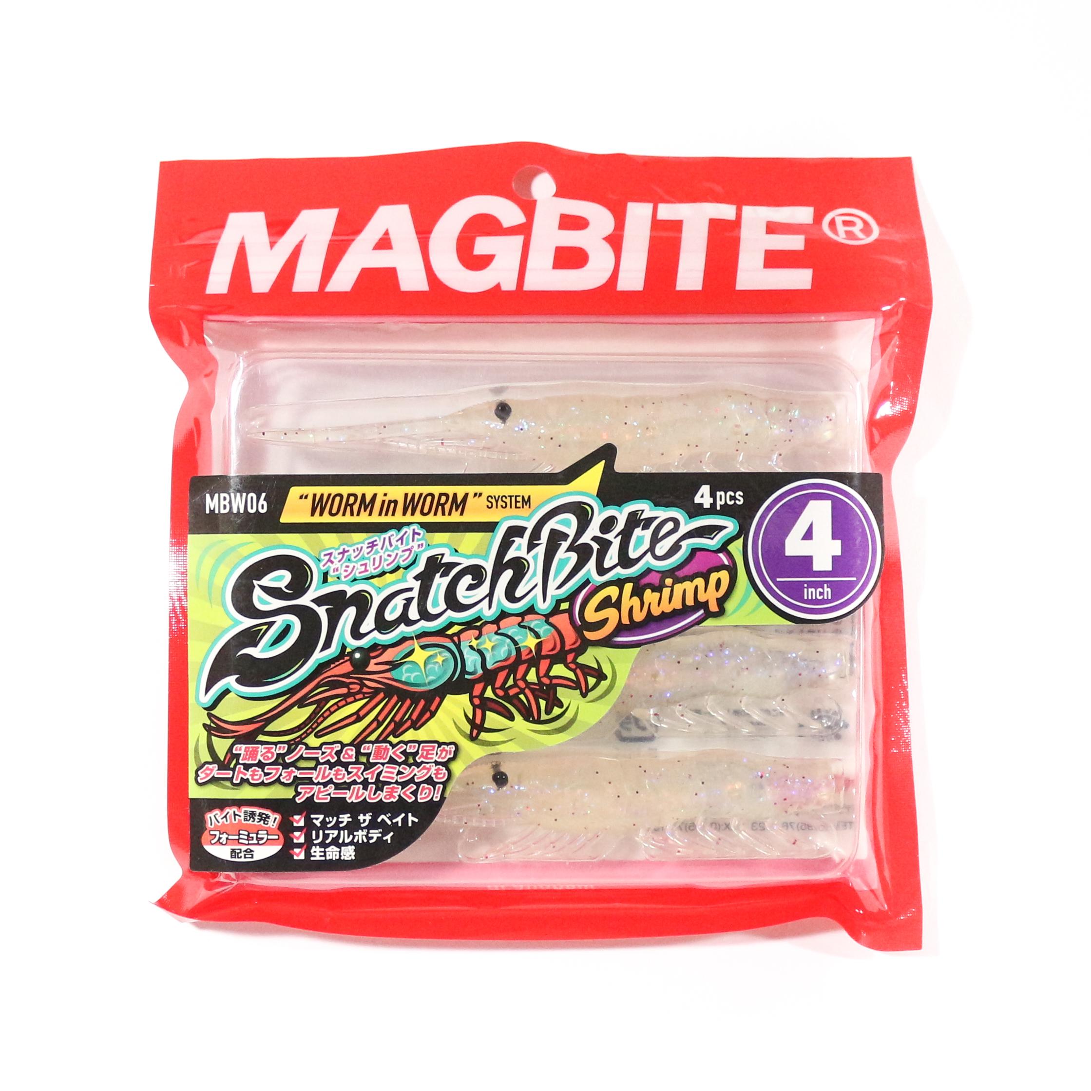 Harimitsu Mag Bite Snatch Shrimp 4 Inch 4 per pack 05 (5105)
