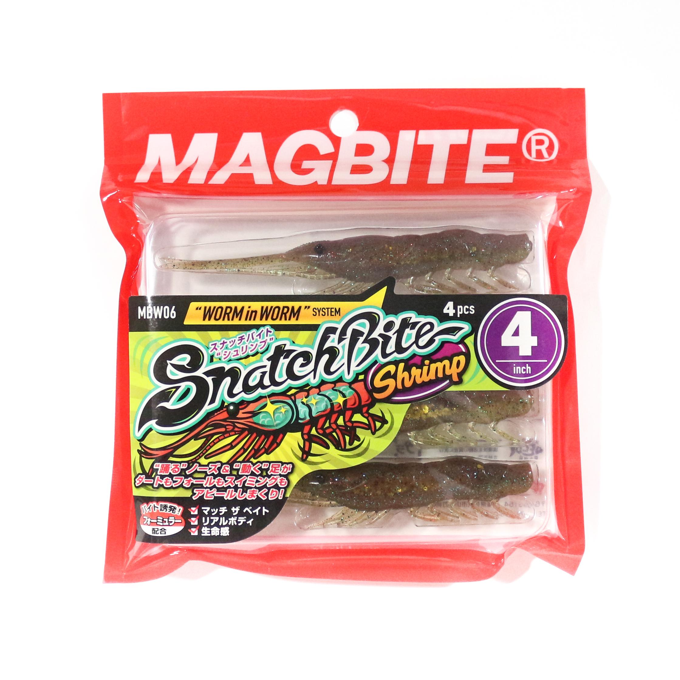 Harimitsu Mag Bite Snatch Shrimp 4 Inch 4 per pack 06 (5112)