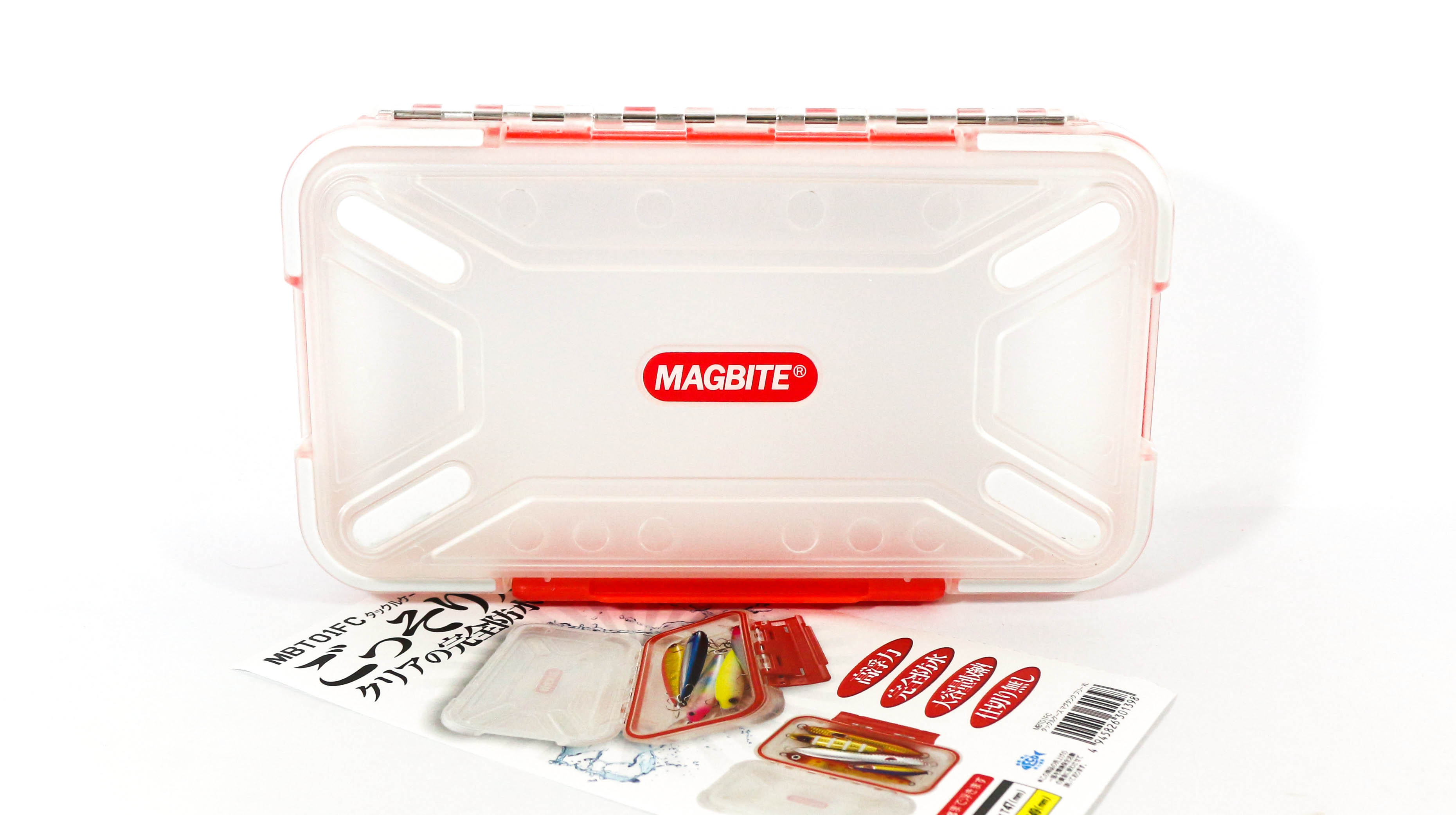 Harimitsu Mag Tank Tackle Box Free XL 200 x 115 x 49 mm Clear XL (1398)