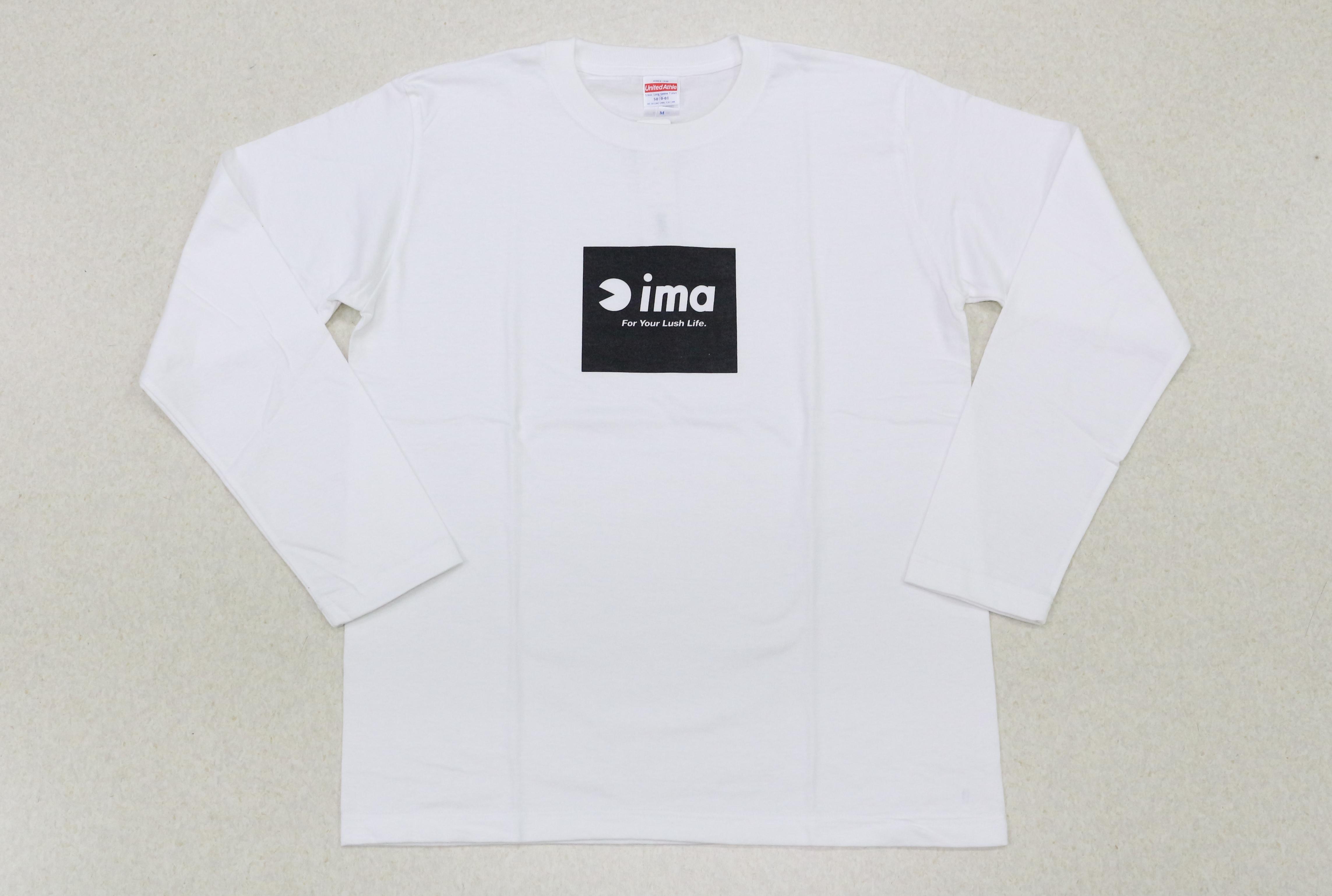 Sale Ima T Shirt Long Sleeve Box Logo White Size XL (6910)