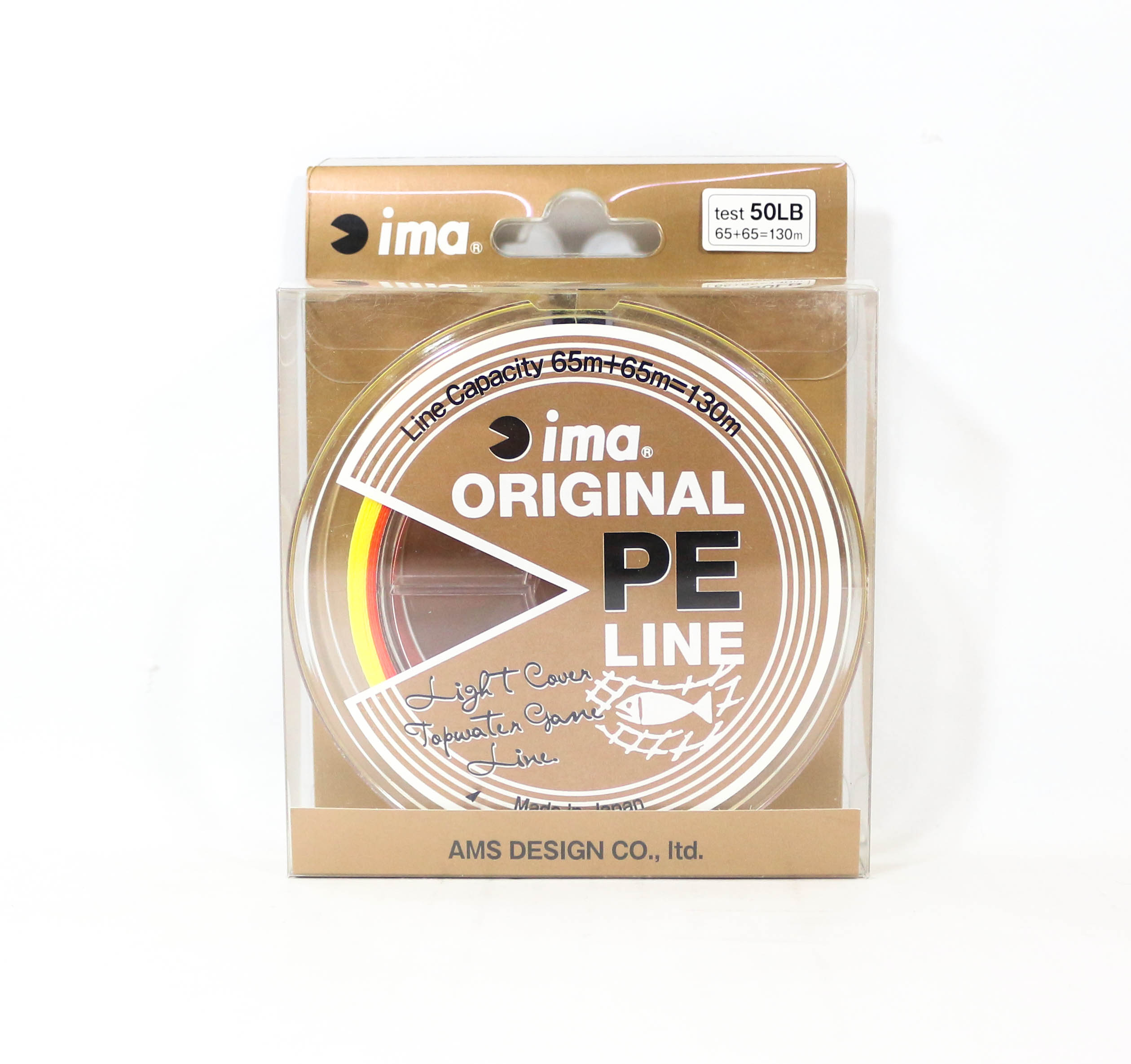 Sale Ima P.E Line Original Topwater Game Line 130m 50lb Orange Yellow (8610)