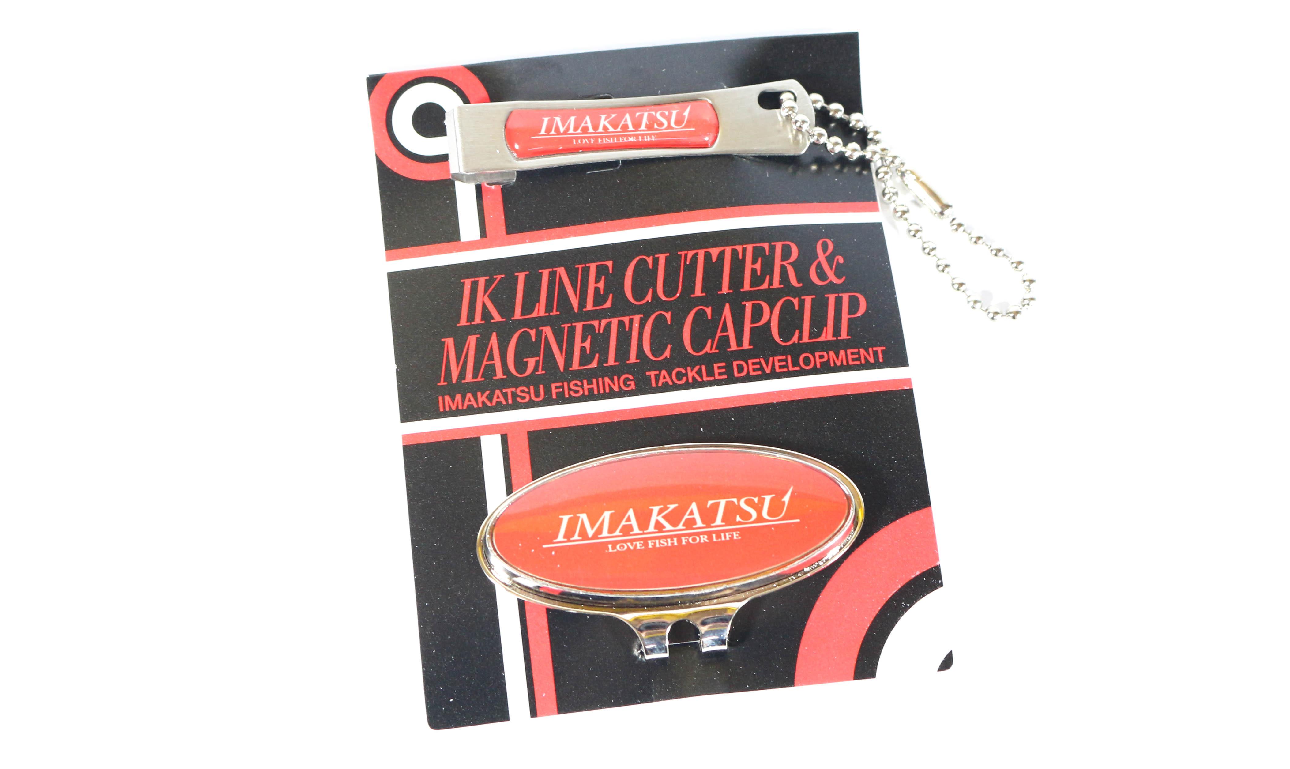 Imakatsu Line Cutter Magnetic Cap Clip Red (3829)