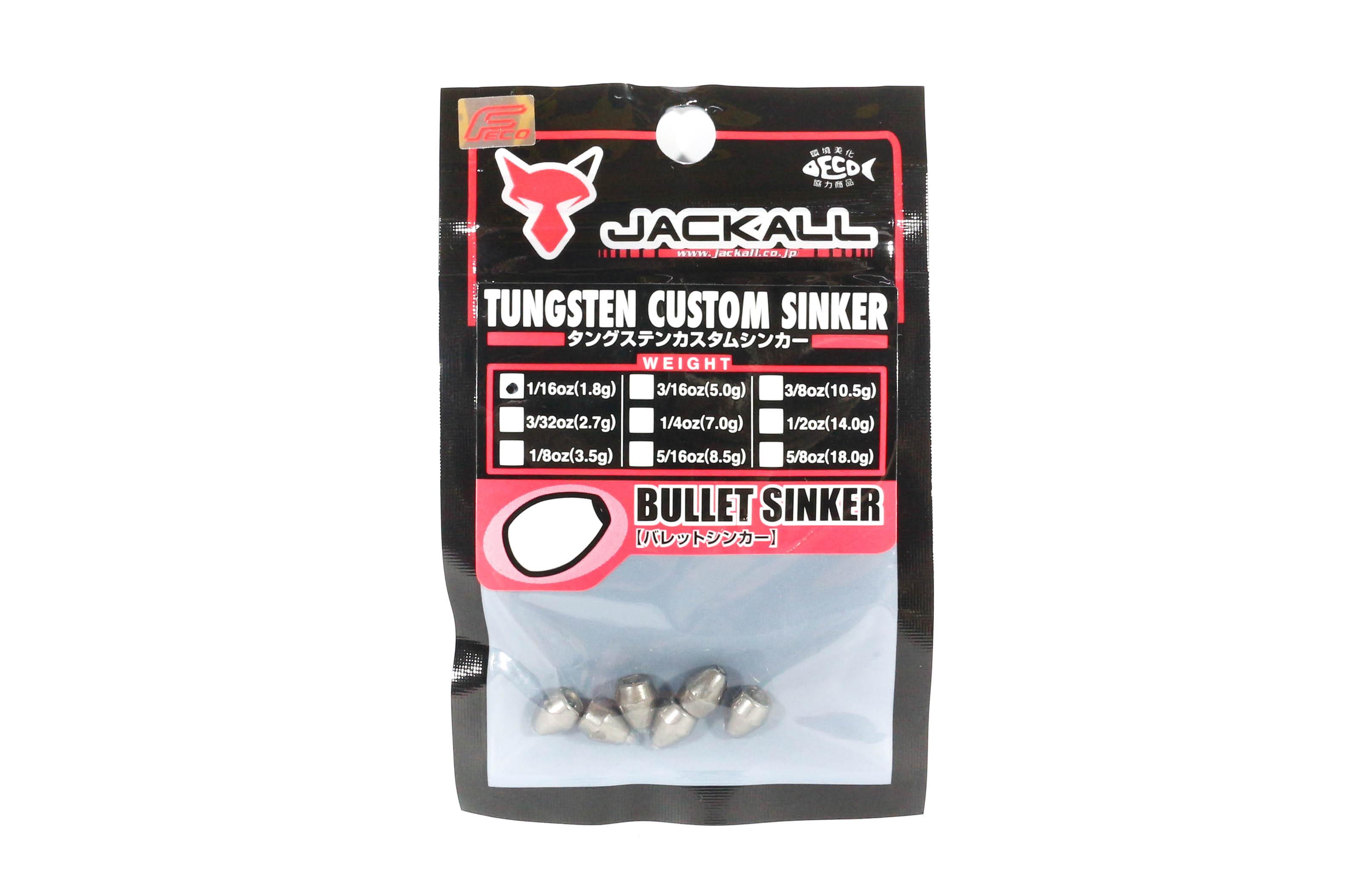 Jackall Tungsten Bullet Sinker Custom Design 1.8 Grams - 6 Pcs Per Pack (8520)