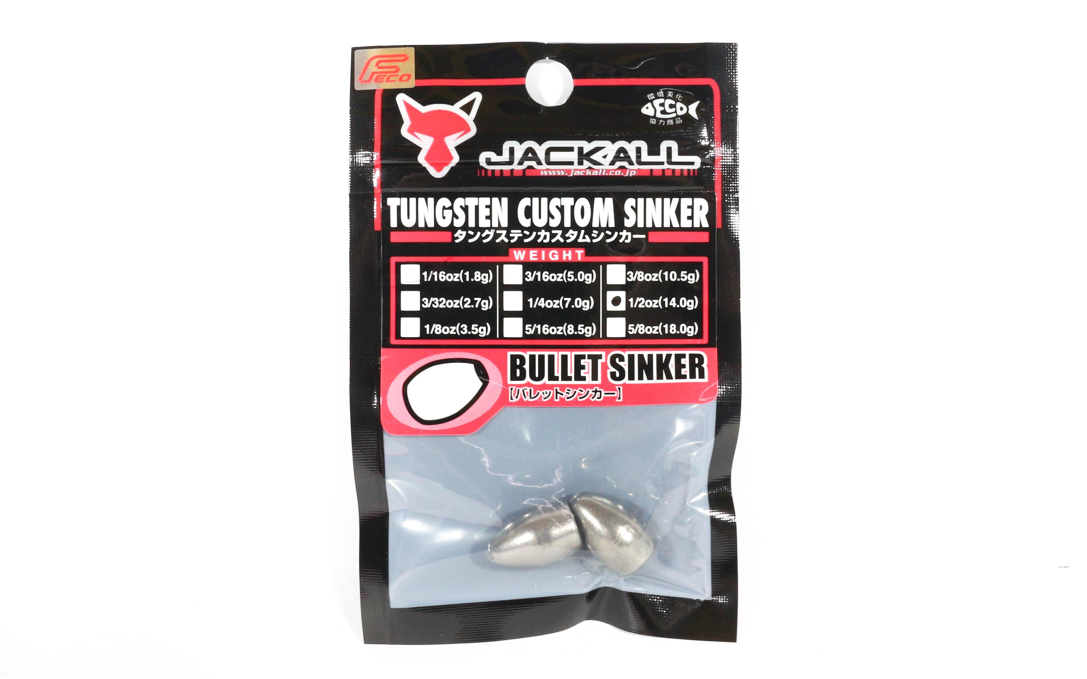 Jackall Tungsten Bullet Sinker Custom Design 14 Grams - 2 Pcs Per Pack (8599)